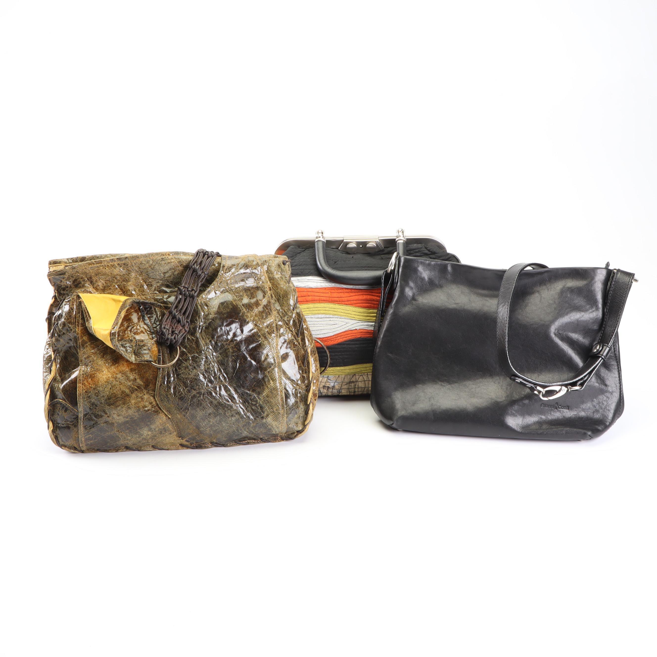 Susan Riedweg, Gianni Conti and Erman Handbags in Leather and Fabric