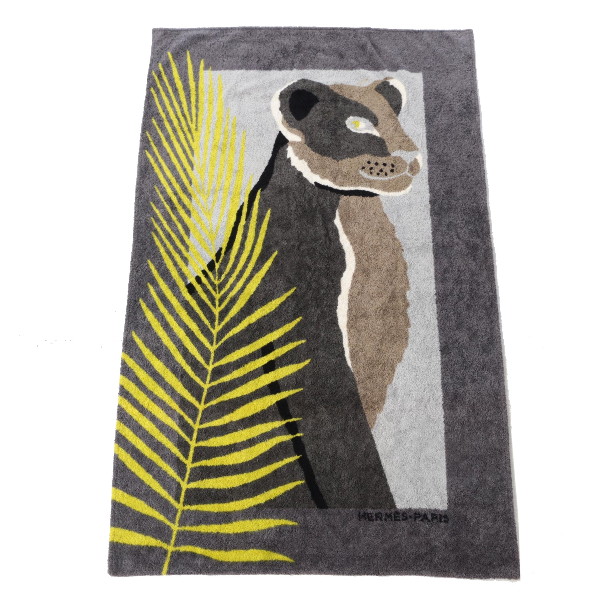 Hermès Feline Tigress Print Beach Towel