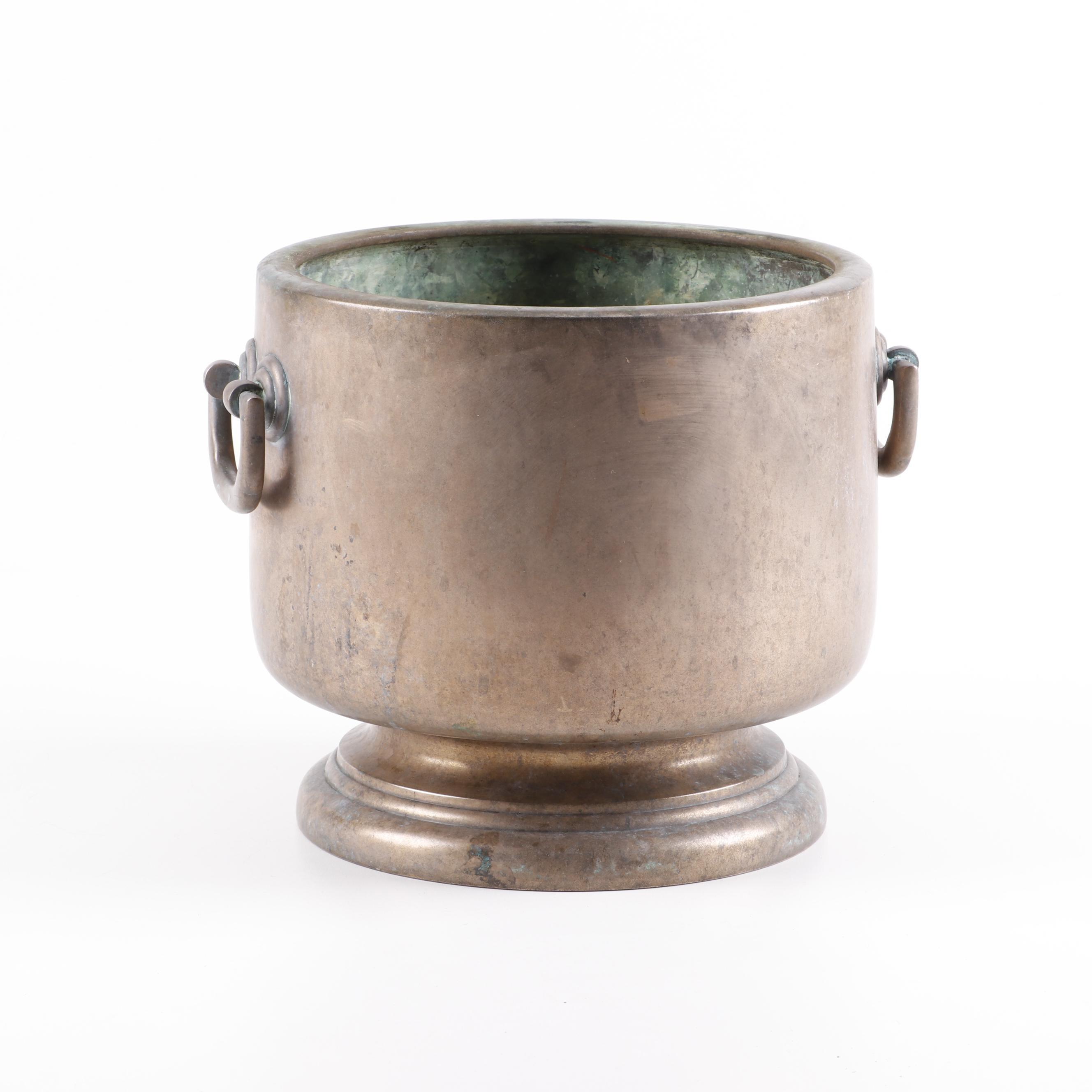Cast Metal Cachepot