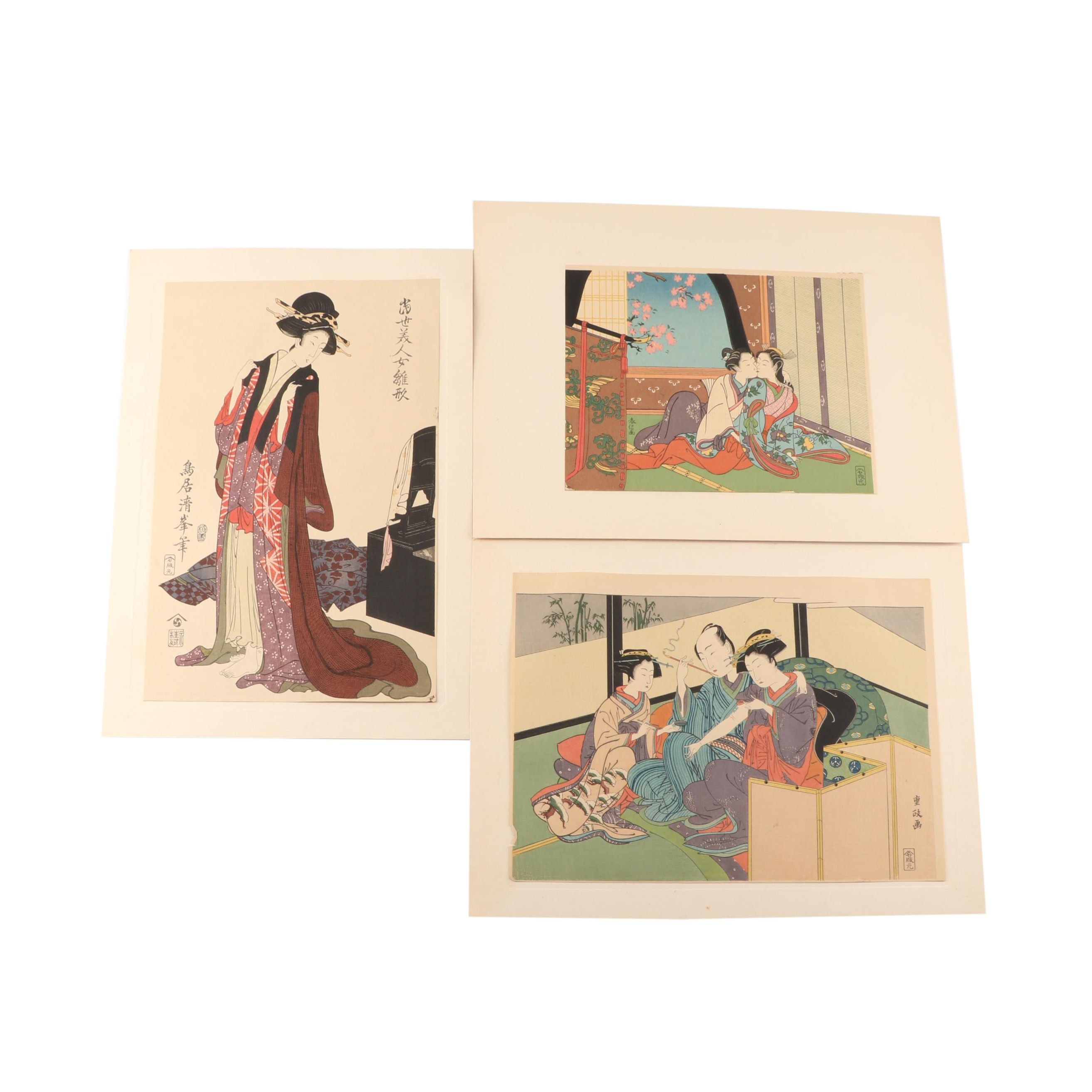 Japanese Woodblock Prints After Various Artists