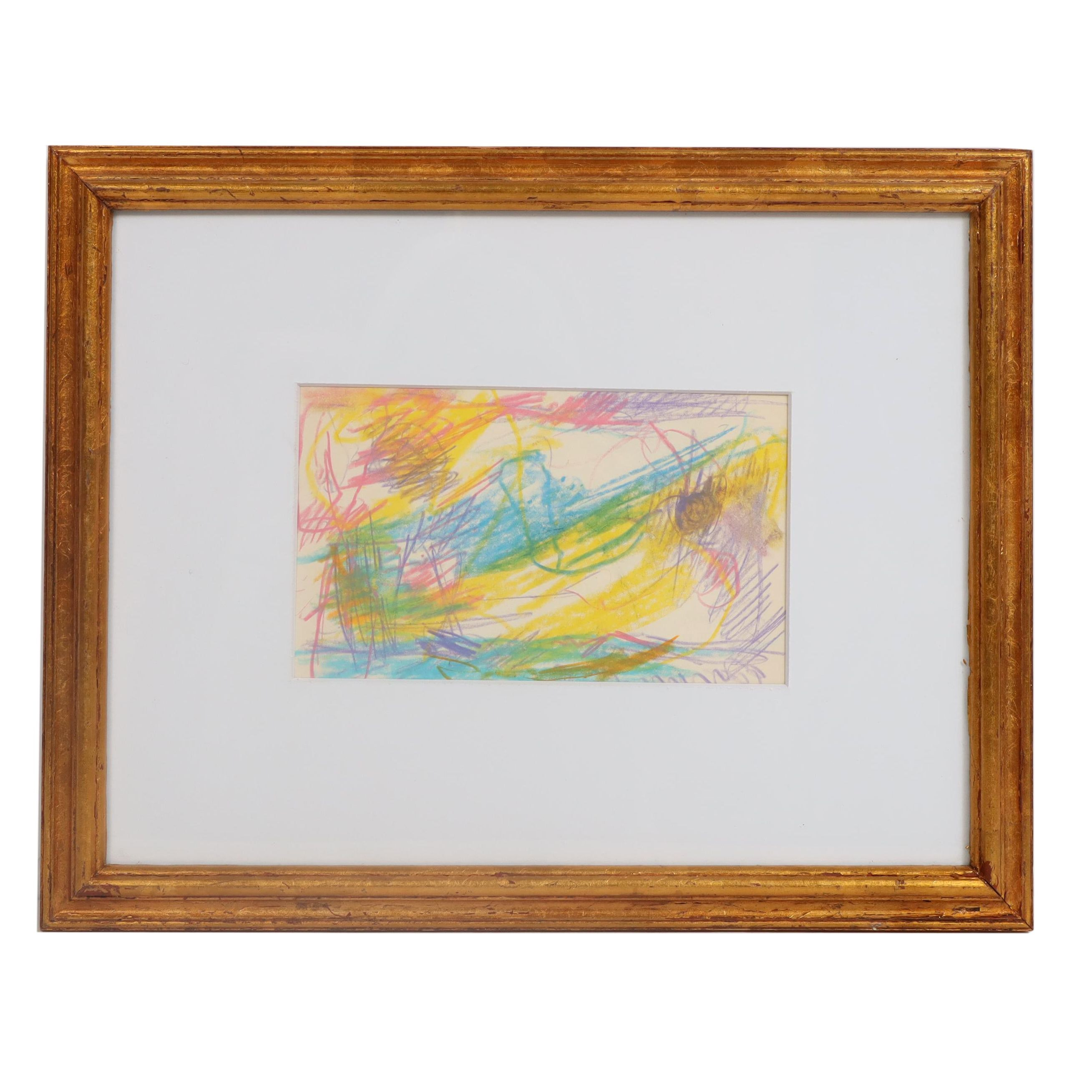 Paul Chidlaw Abstract Pastel Drawing