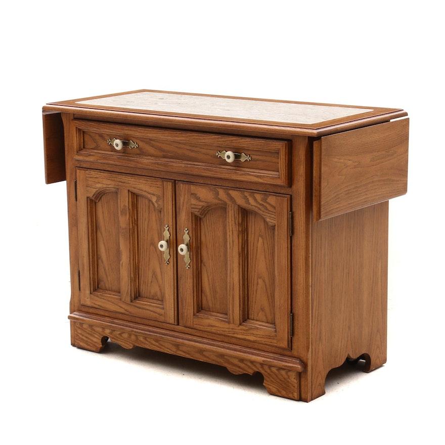 Early American Style Thomasville Oak Drop-Leaf Buffet Server