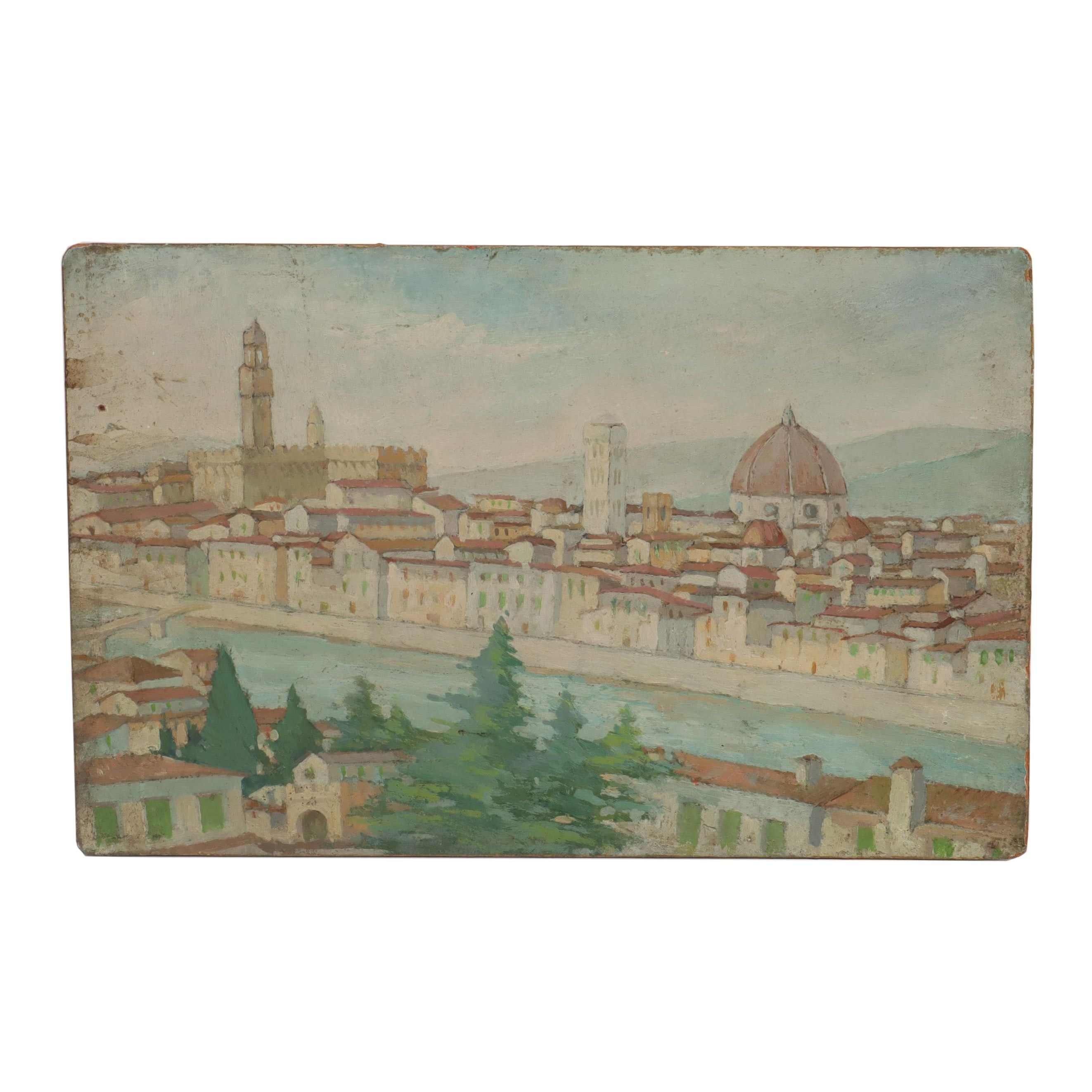 19th Century Oil Painting of Florence