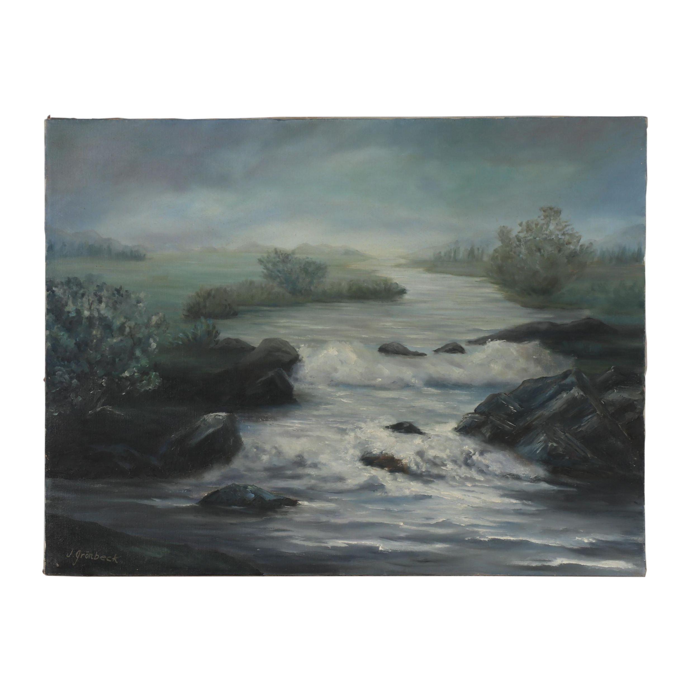 Jean Grönbeck Seascape Oil Painting