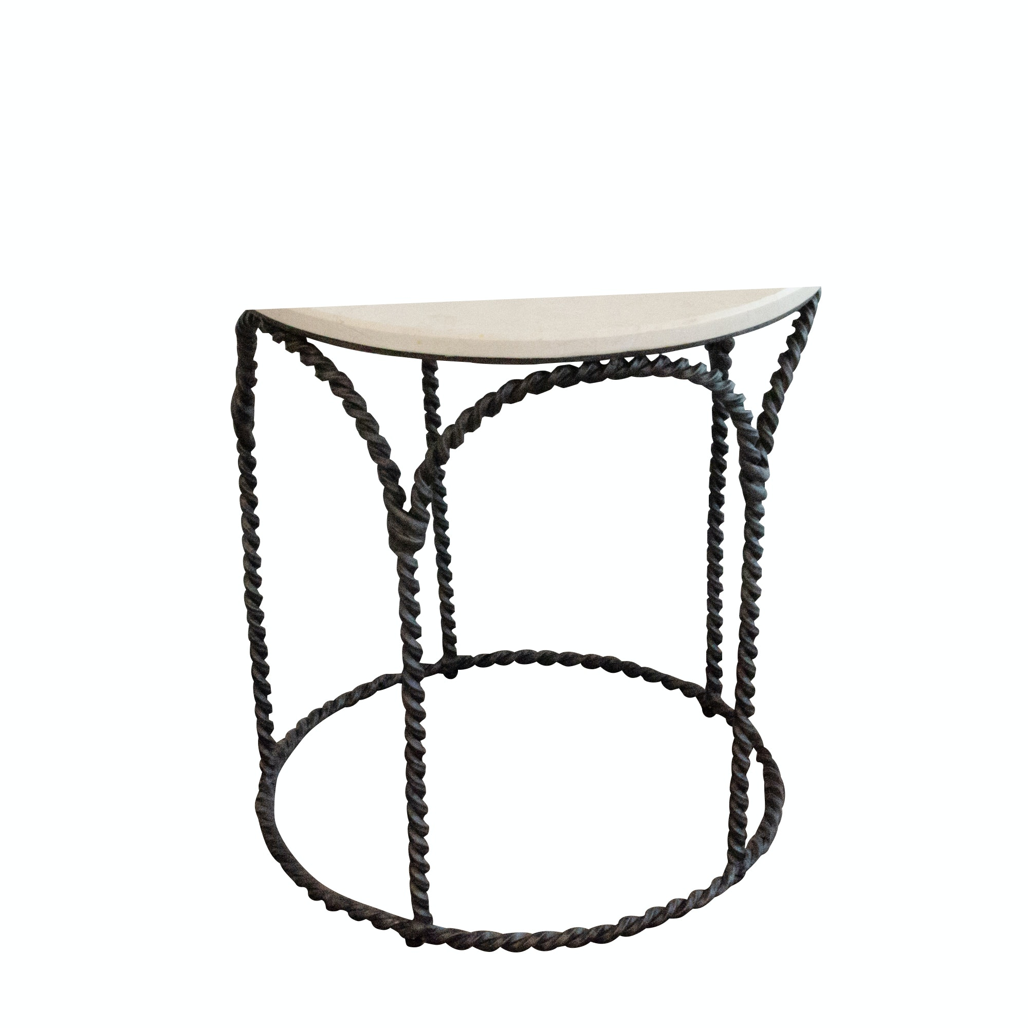 Stone and Iron Side Table