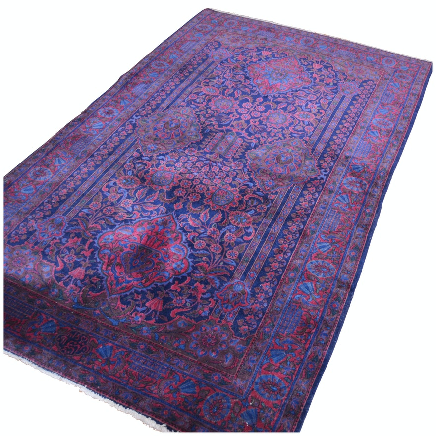 Hand-Knotted Overdyed Persian Style Wool Area Rug