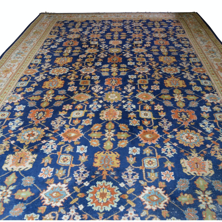 Hand-Knotted Rajah Indo-Persian Wool Rug