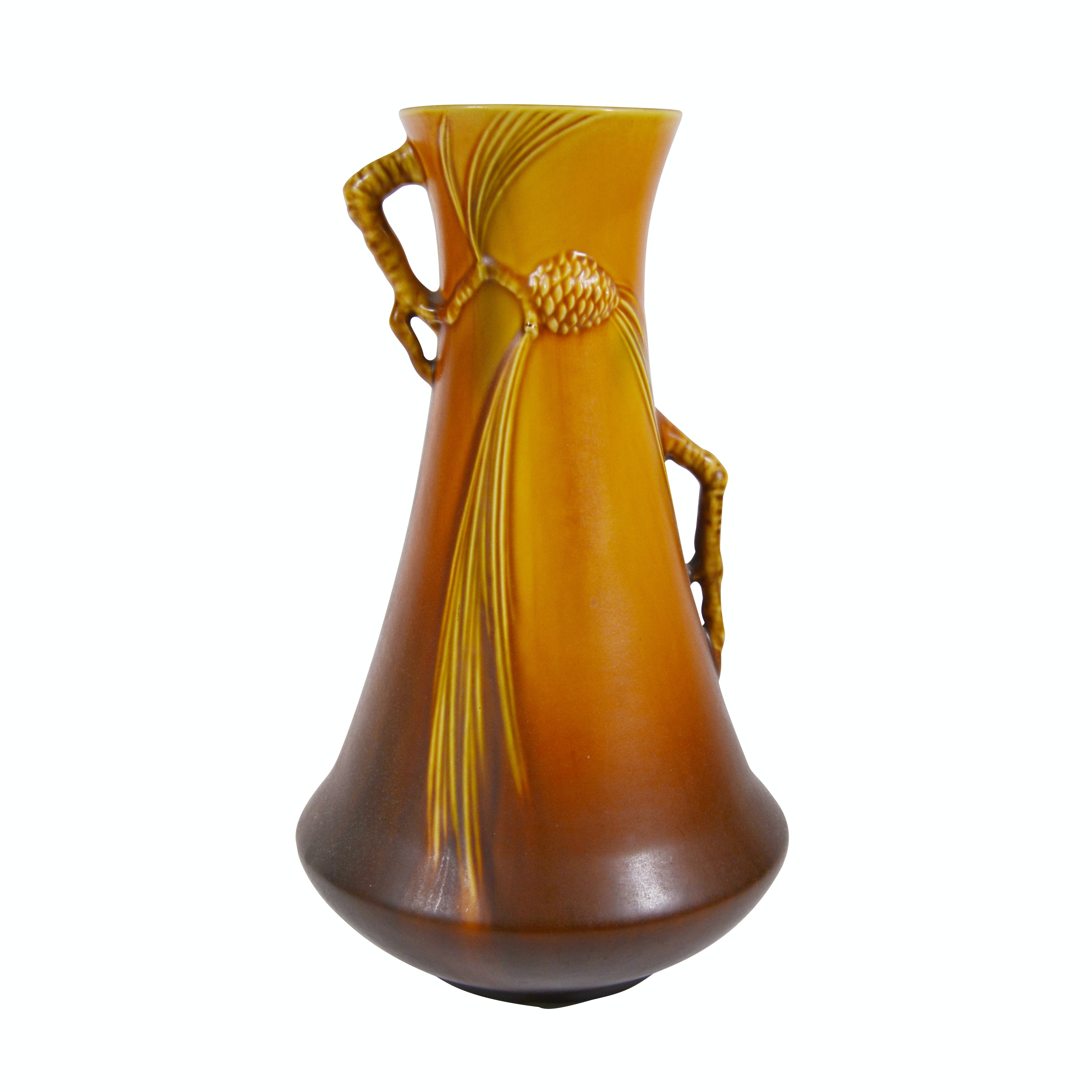 """Roseville Pottery """"Pine Cone"""" Corseted Vase, 1930s"""