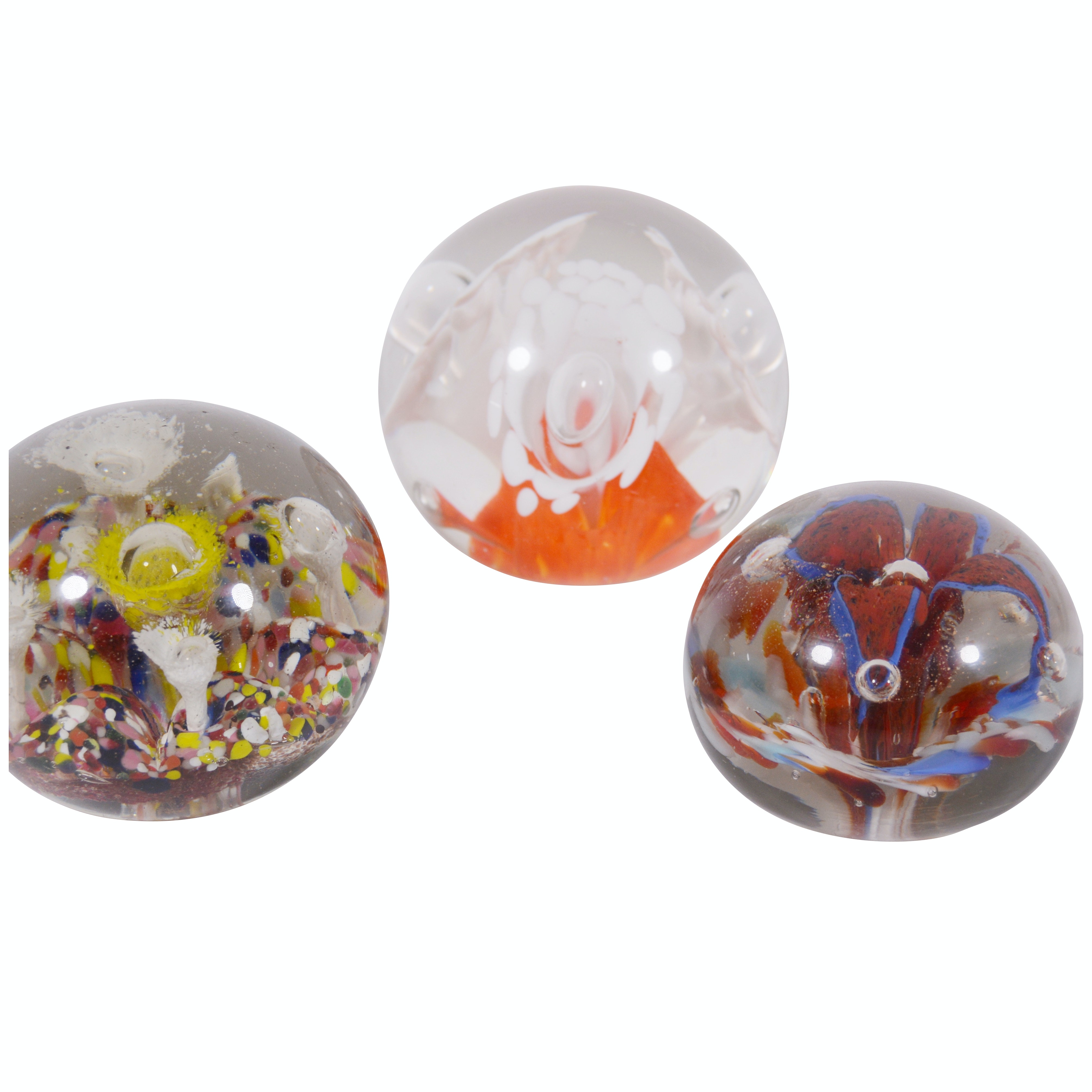 Hand-Blown Art Glass and Millefiori Paperweights