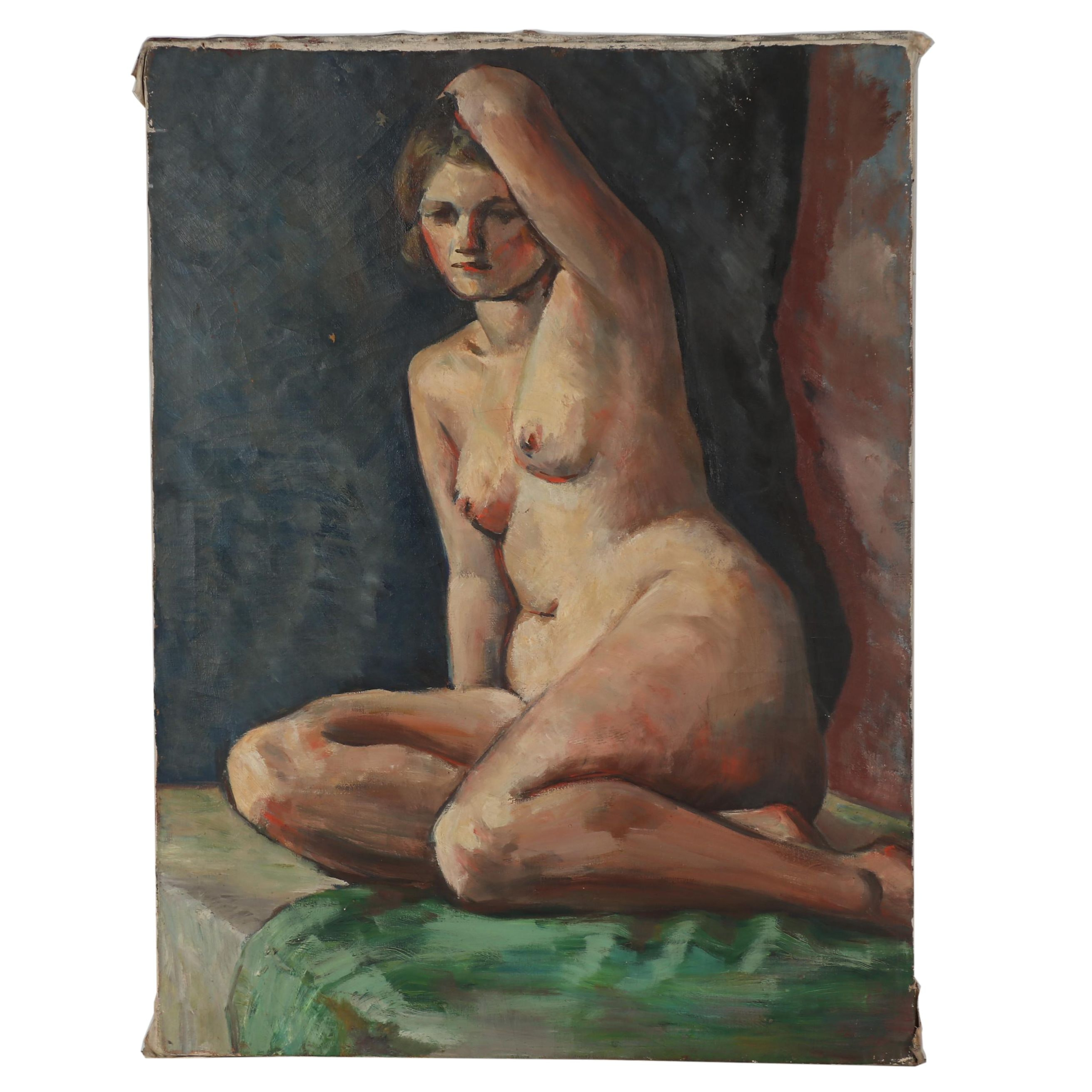 Thomas Brownell Eldred Oil Portrait of Female Nude