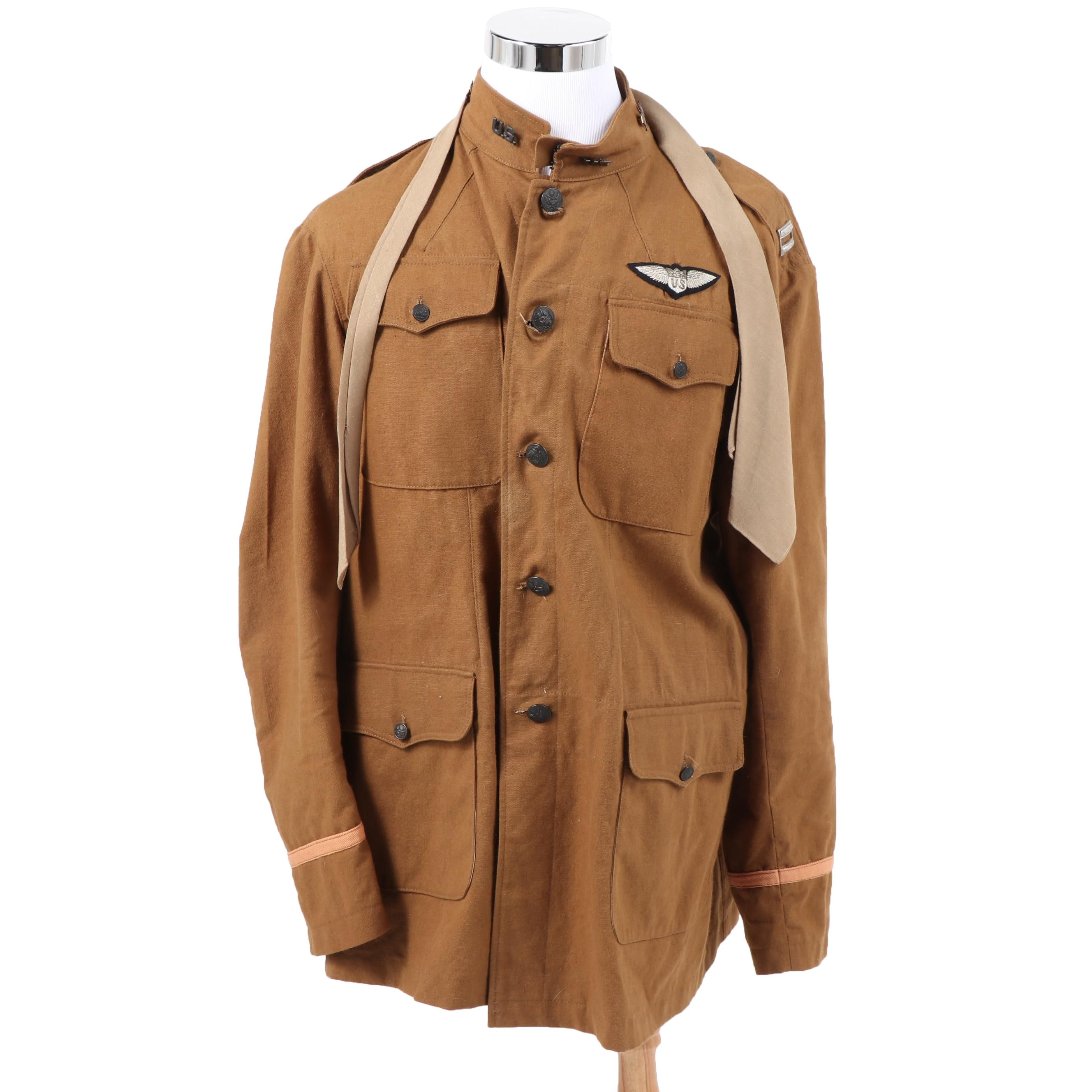 Reproduction WWI U.S. Army Air Service Officer's Tunic with Insignia and Tie