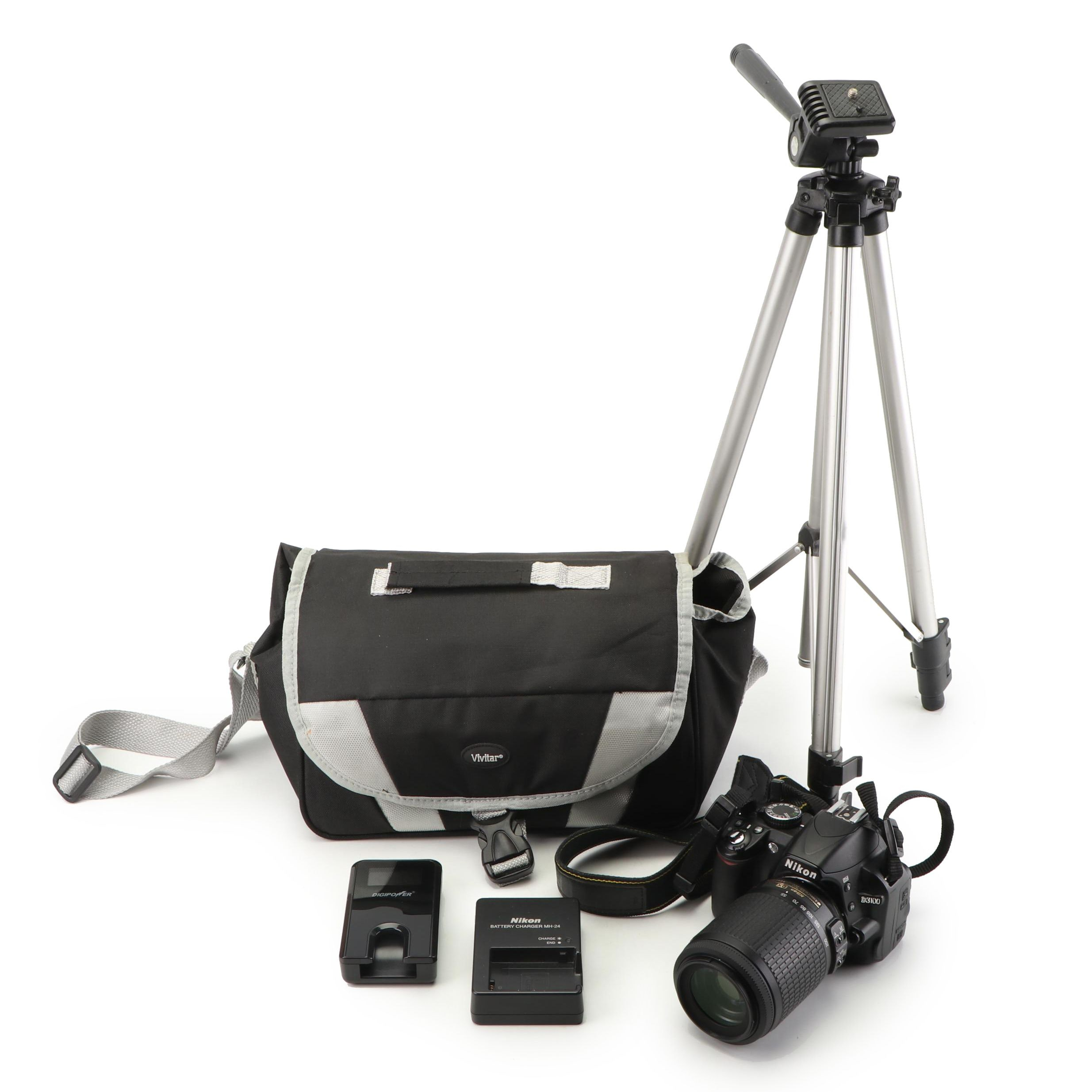 Nikon D3100 Camera with Accessories and Tripod