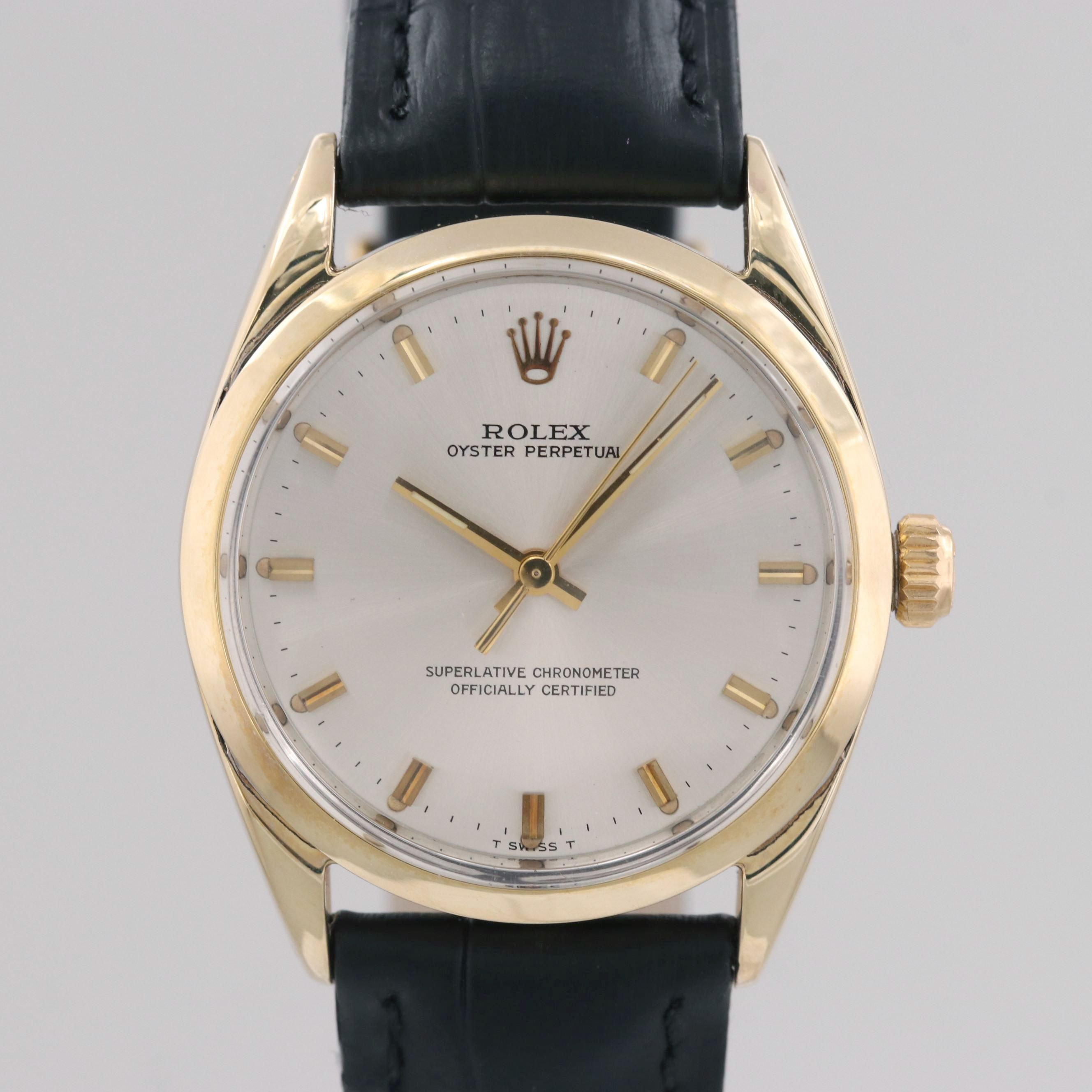 Vintage Rolex Oyster Perpetual Gold Shell Automatic Wristwatch, 1971