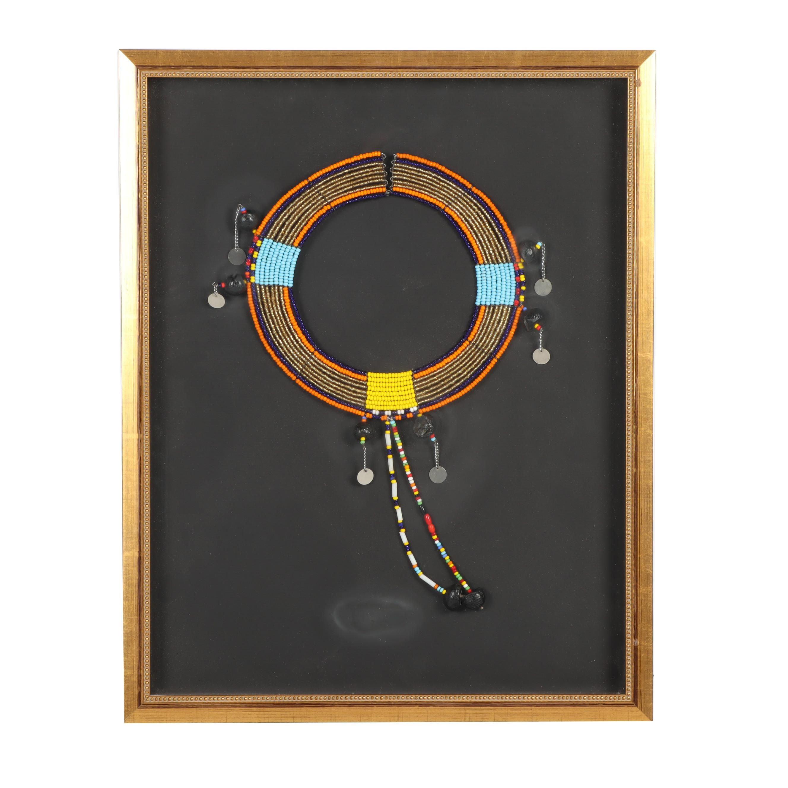 Framed Beaded Bib Necklace