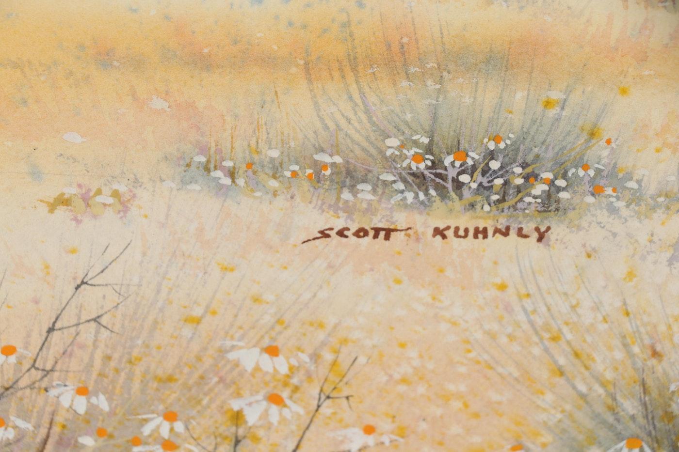 Glenn Scott Kuhnly Watercolor Landscape Painting