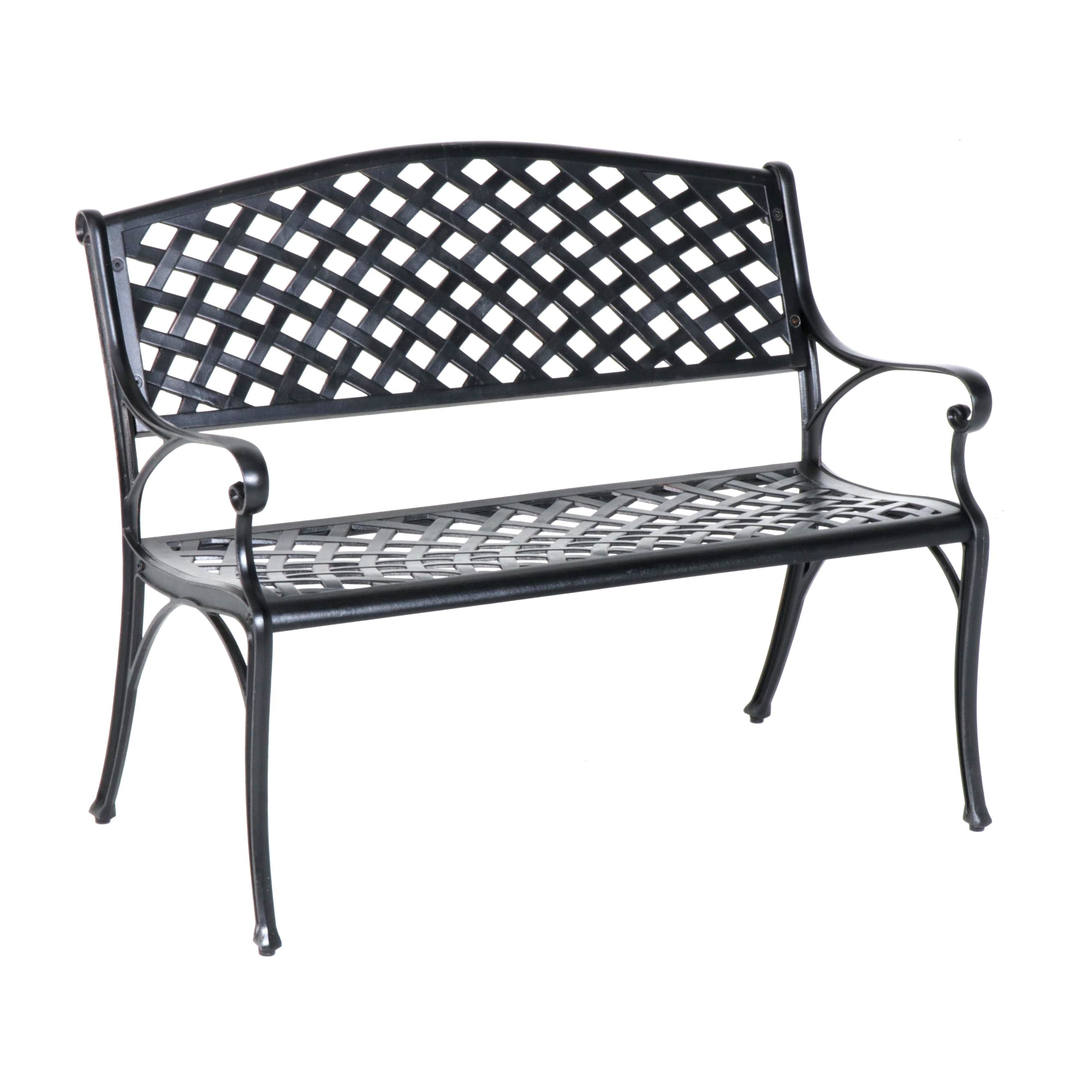 Contemporary Metal Patio Bench