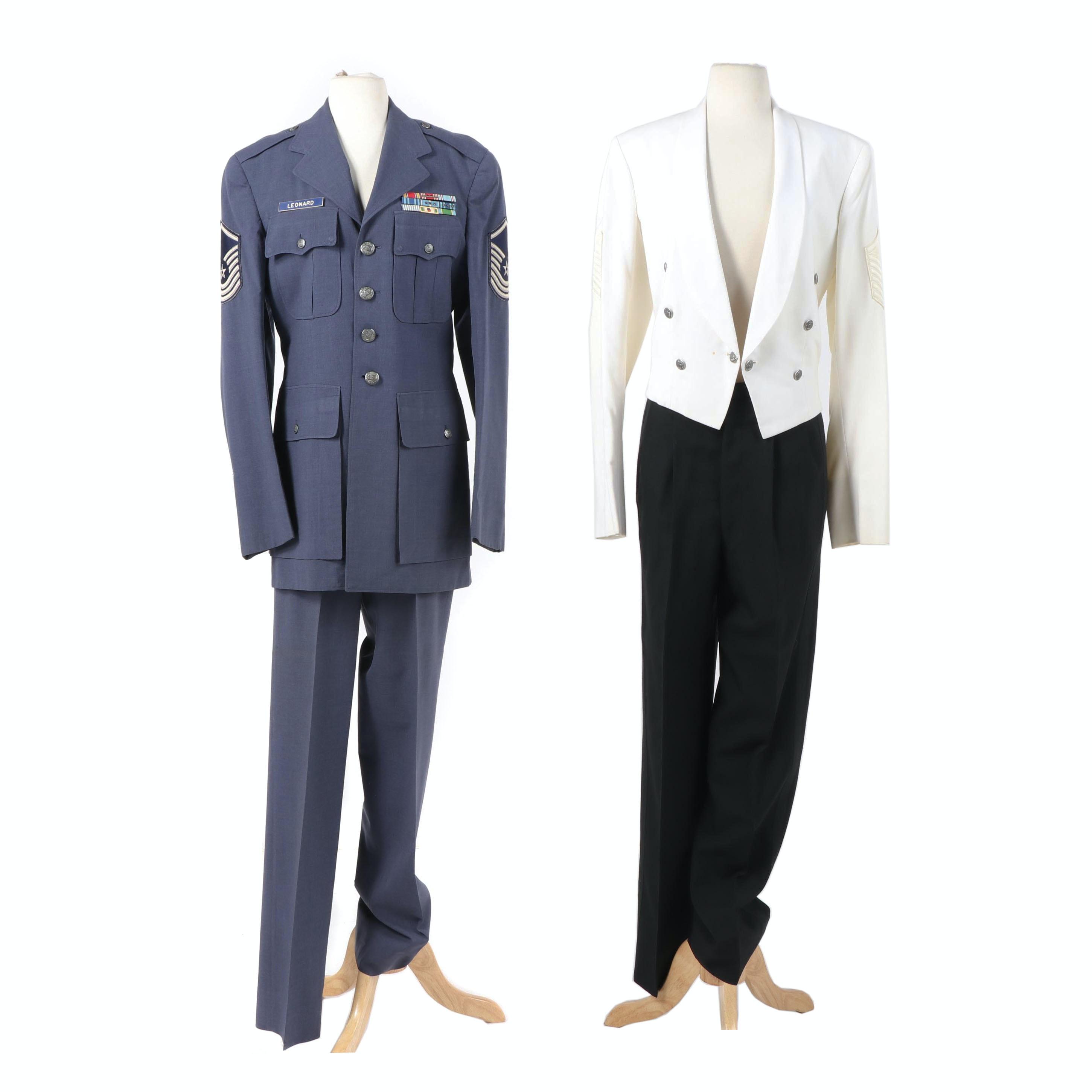 Vintage Air Force Master Sergeant Dress Uniform and Formal Dinner Uniform