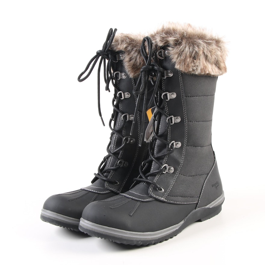 2488e12b7 Blondo Sport Sophia Insulated Waterproof Winter Boots with Faux Fur Trim