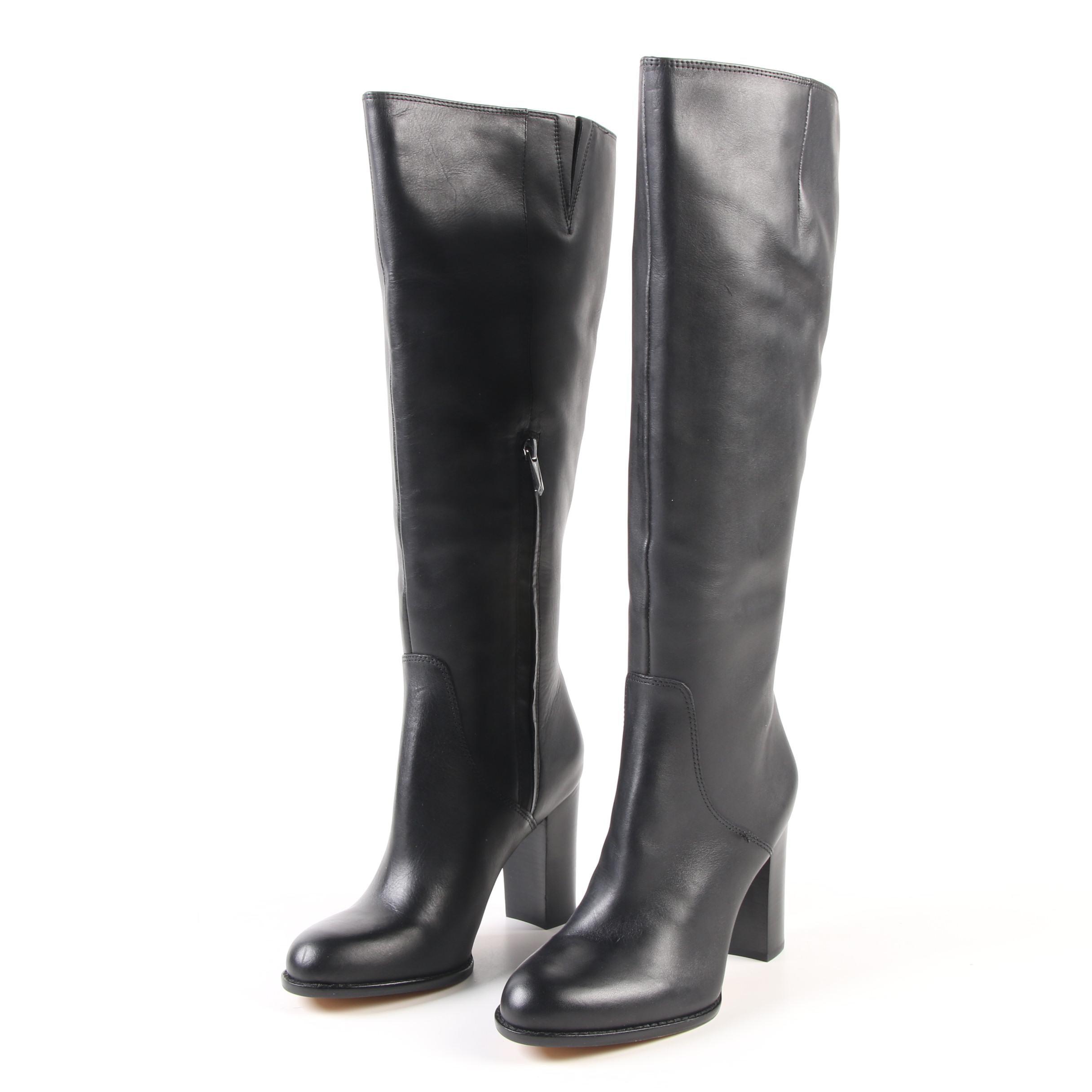 Sam Edelman Black Leather Regina Tall Boots