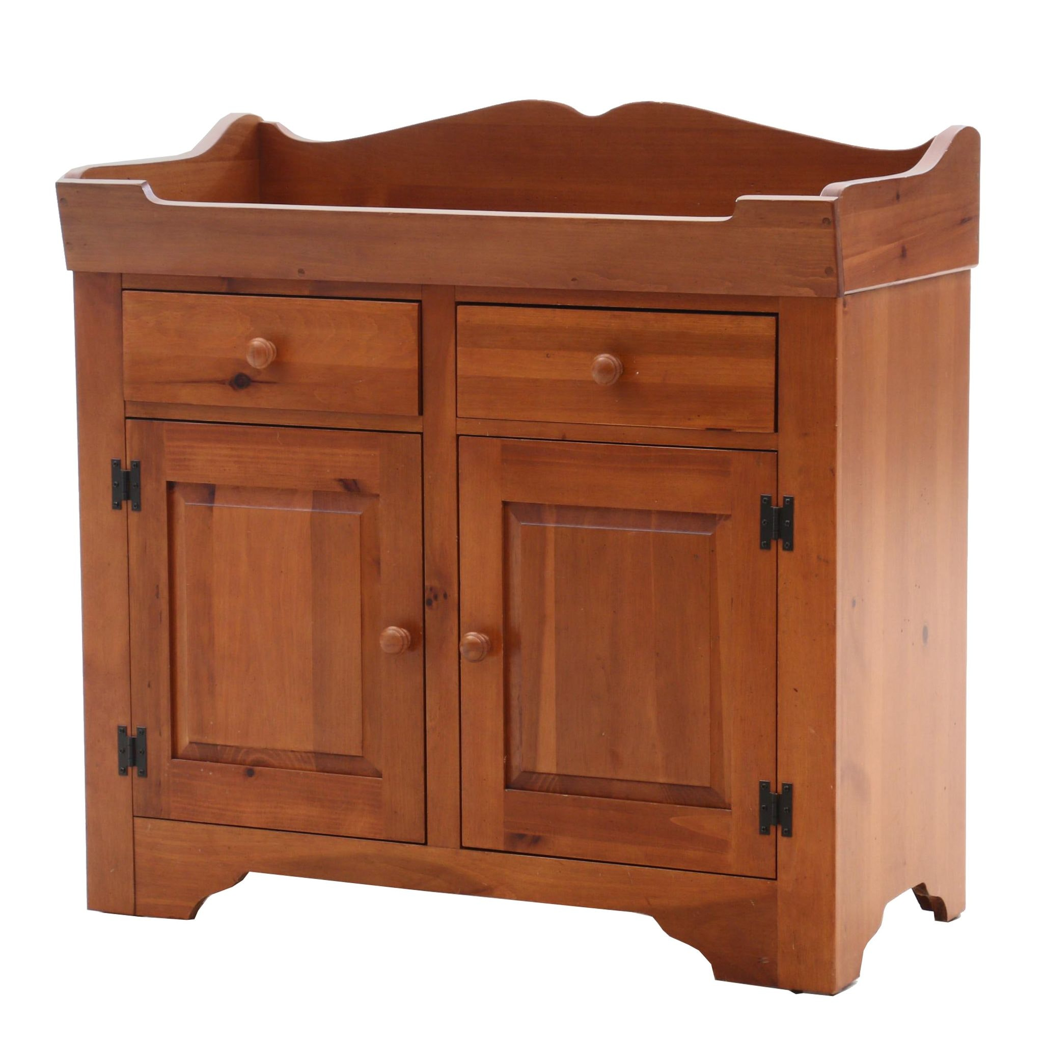 Broyhill Early American Style Pine Dry Sink Cabinet
