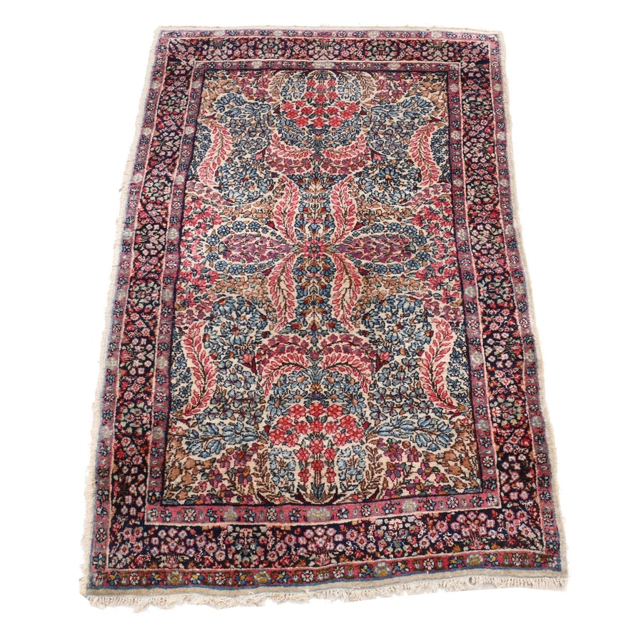 Hand-Knotted Persian Qum Wool Rug