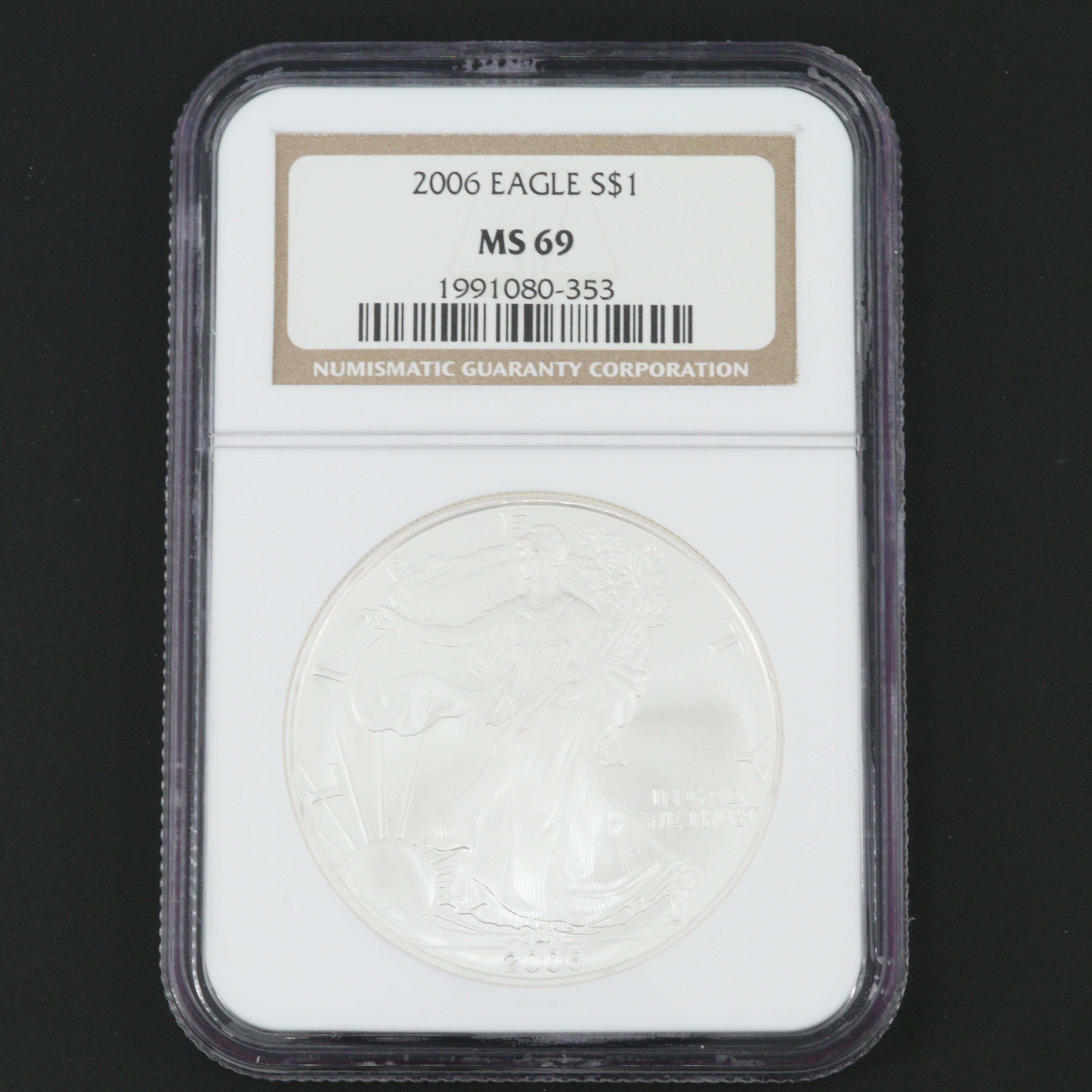 NGC Graded MS69 2006 American Silver Eagle