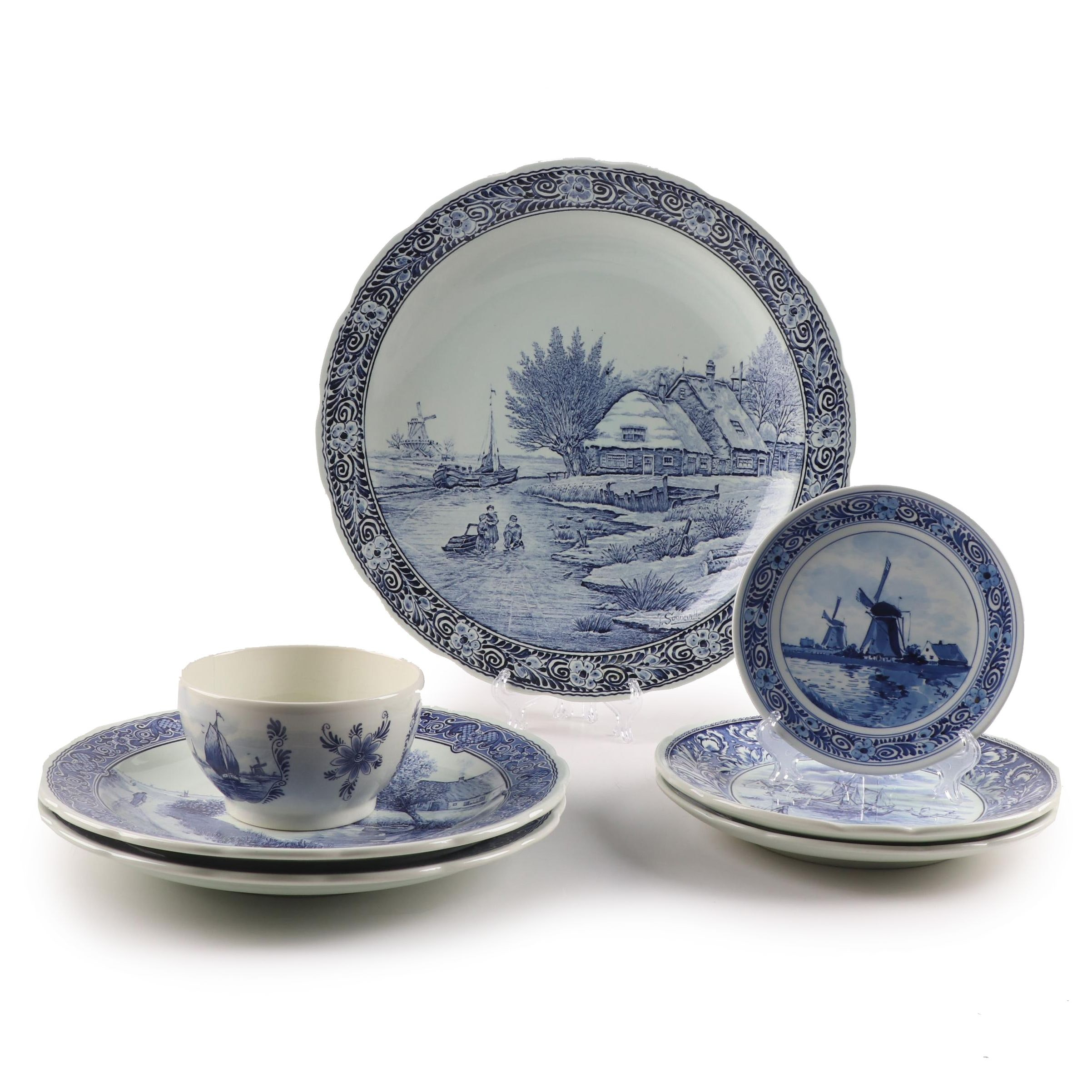 Delft Serveware and Dinnerware featuring Royal Delft and Boch