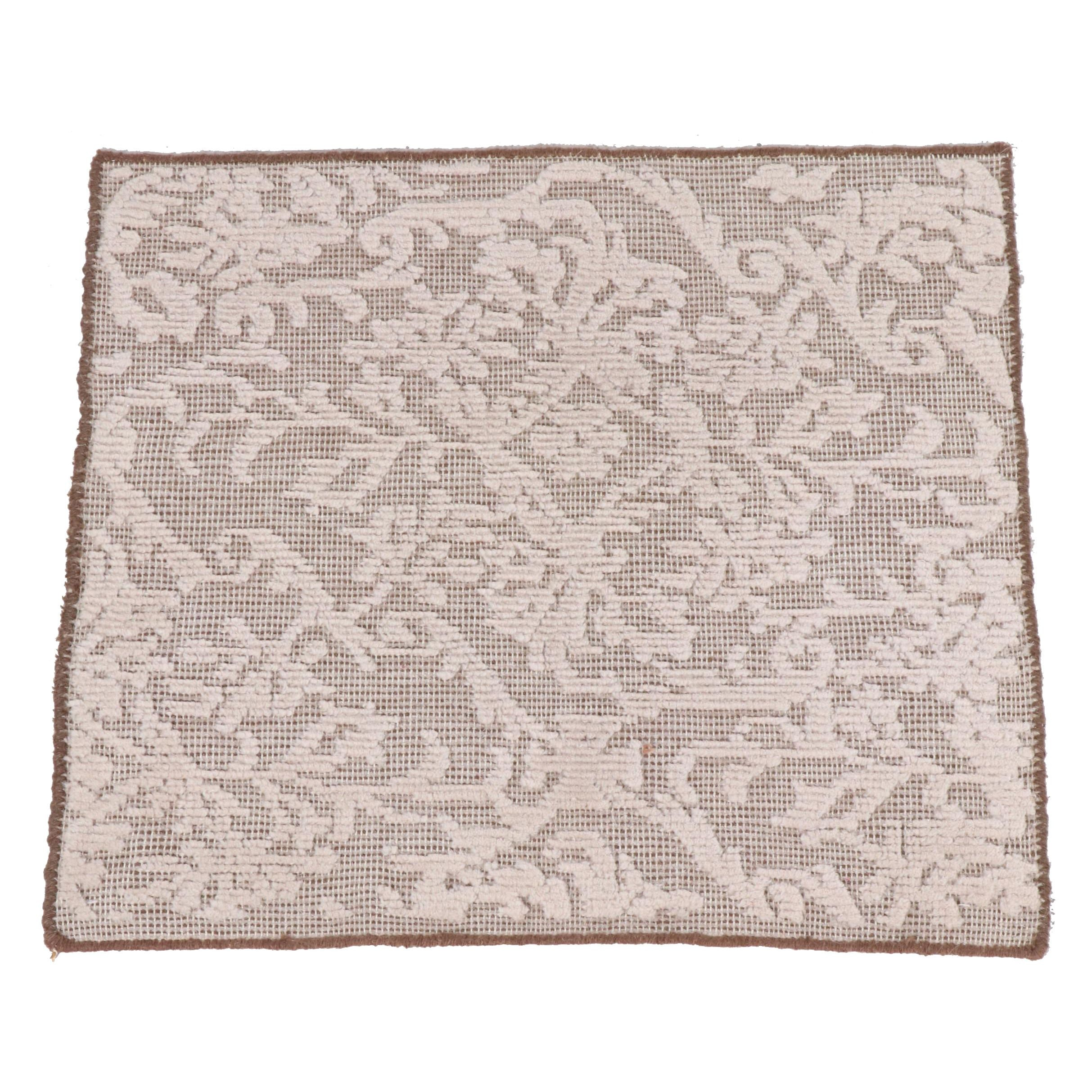Hand-Knotted Indian Wool Rug