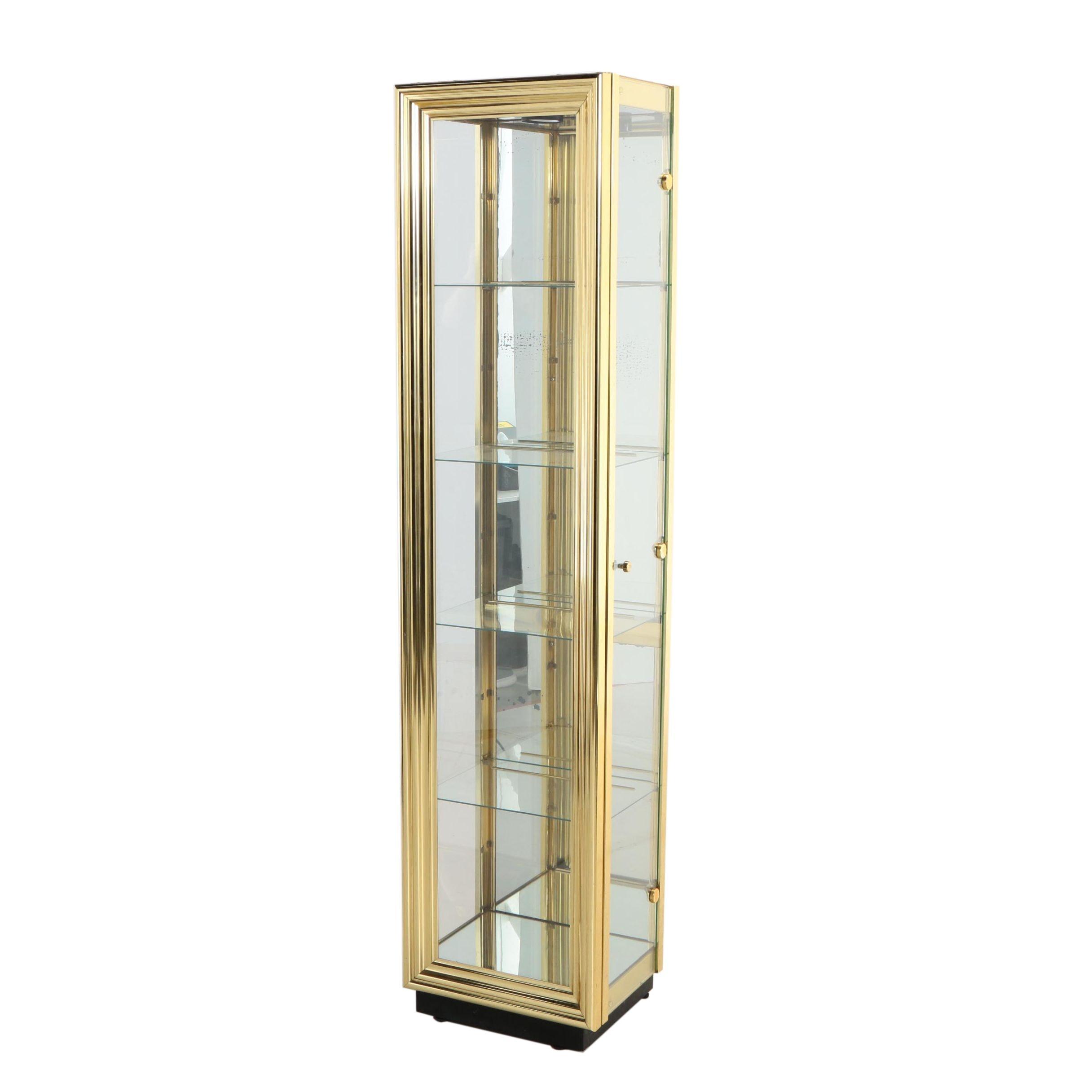 Brass Display Cabinet, Second Half 20th Century