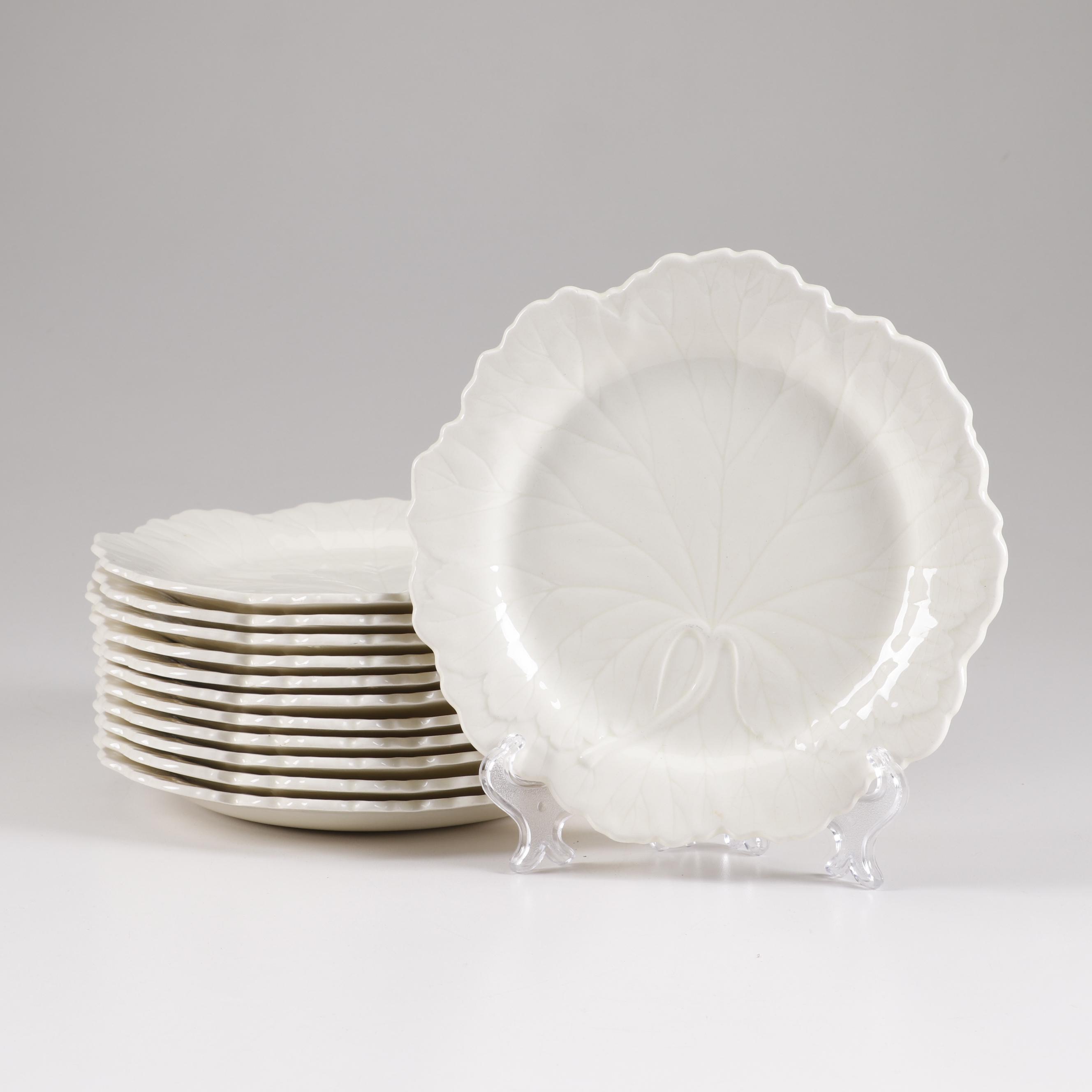 Wedgwood of Etruria & Barlaston Ceramic Cabbage Leaf Plates