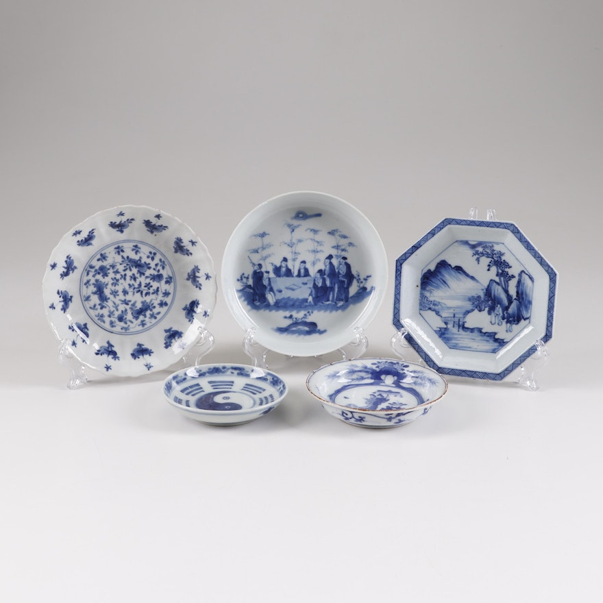 Chinese Canton and Japanese Imari Porcelain Tableware, 19th Century