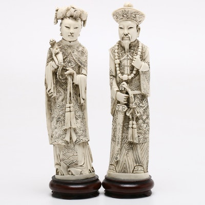 Contemporary Chinese Style Cast Resin Figurines