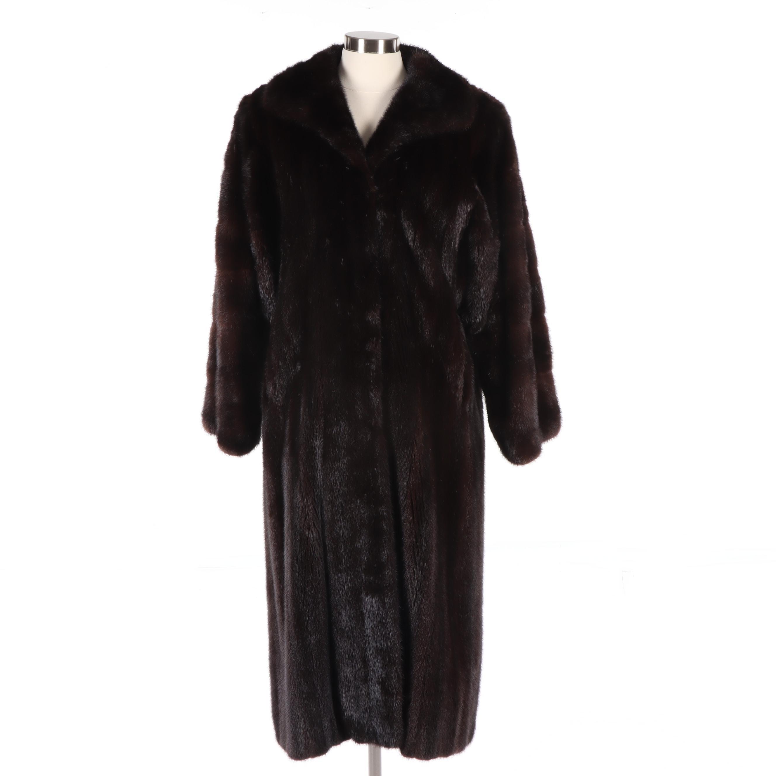 Women's Dark Mahogany Mink Fur Coat, Vintage