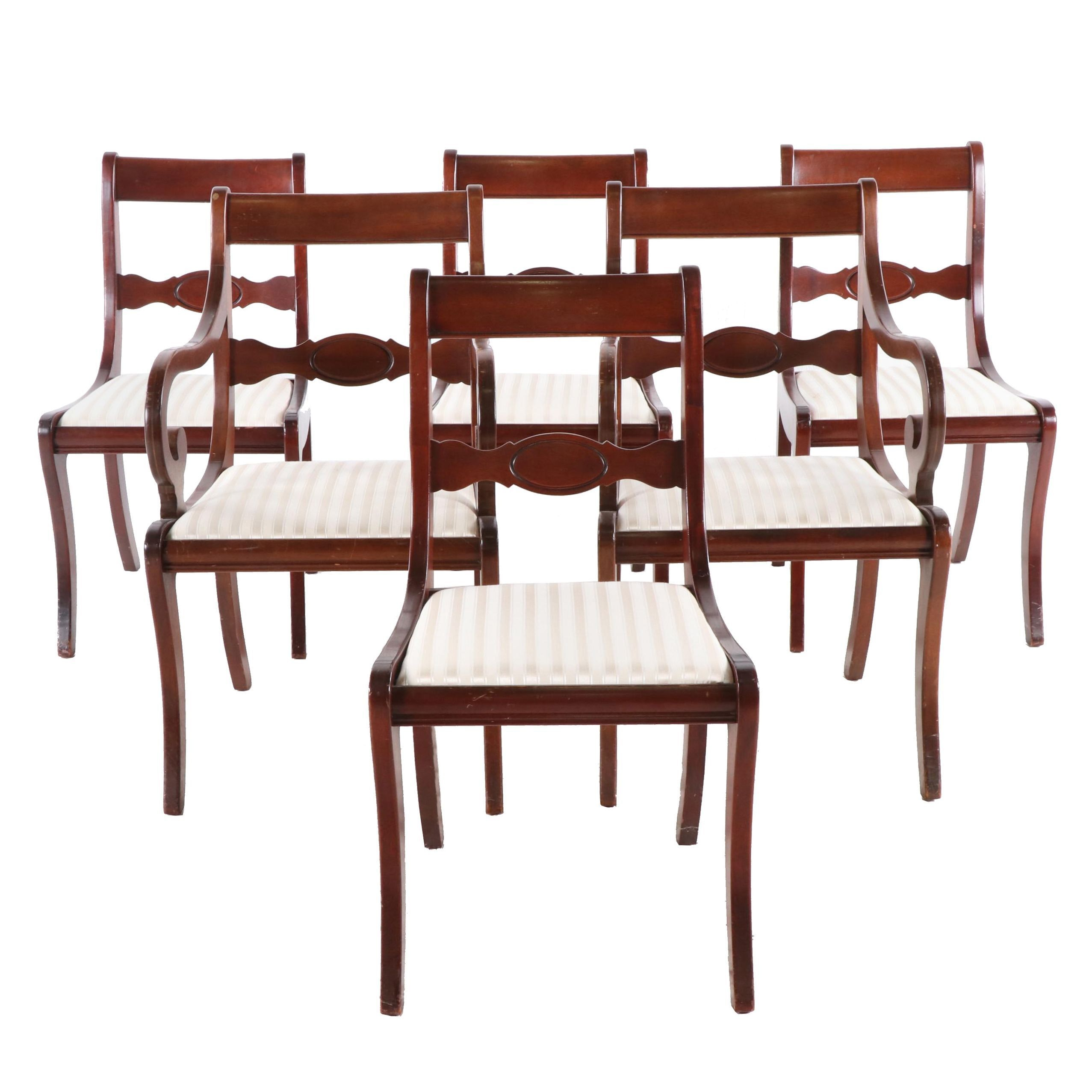 Georgetown Galleries Regency Style Dining Chairs, Mid 20th Century