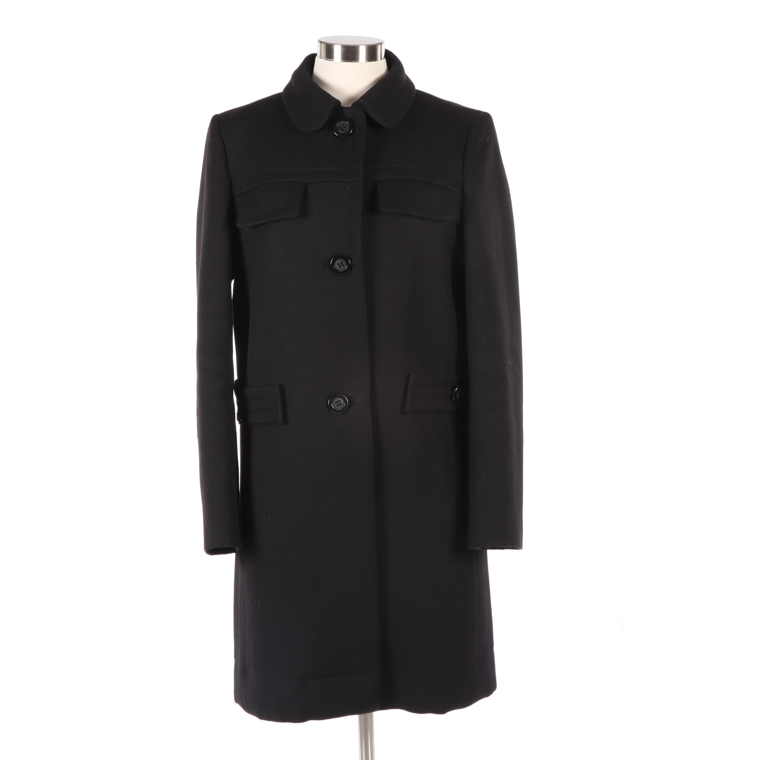 See by Chloé Black Button-Front Wool Jacket, Vintage