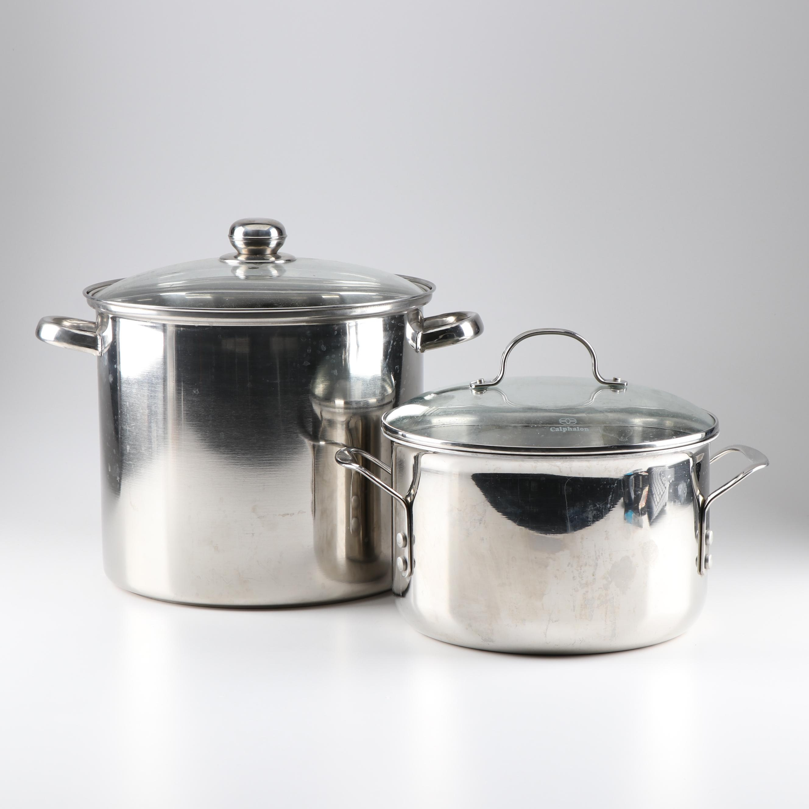 Sharda Stockpot and Calphalon 8 QT Pot