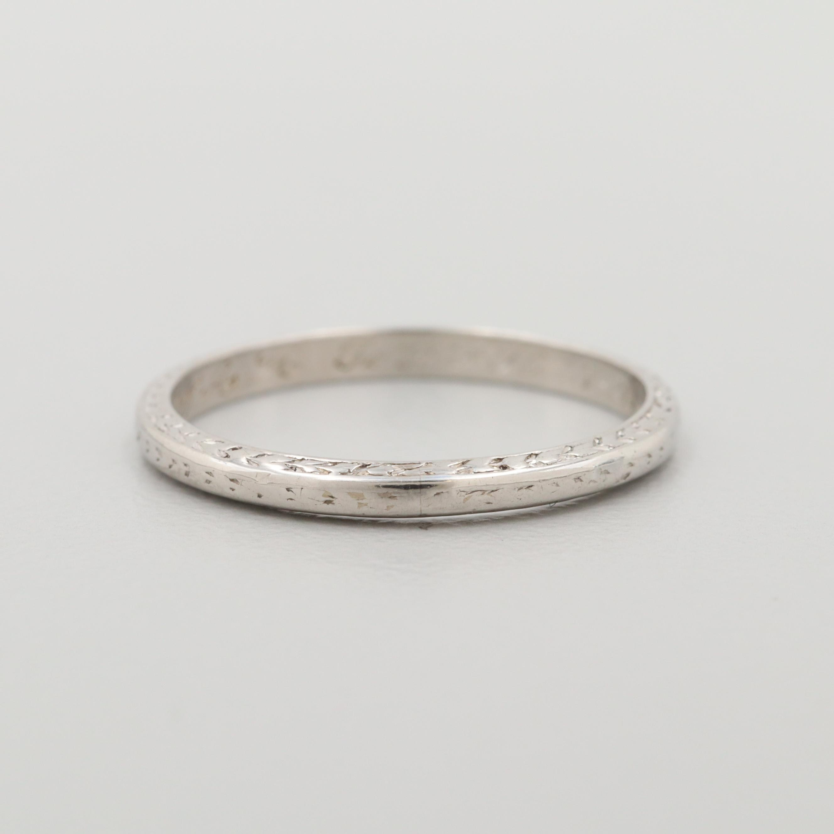 Platinum Engraved Band