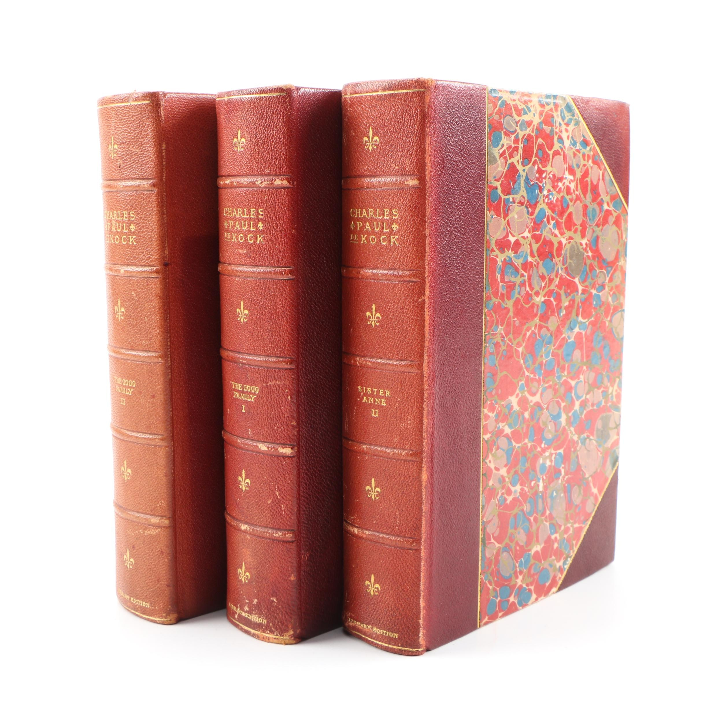 "Three Volumes of ""The Works of Charles Paul de Kock,"" 1902–03"