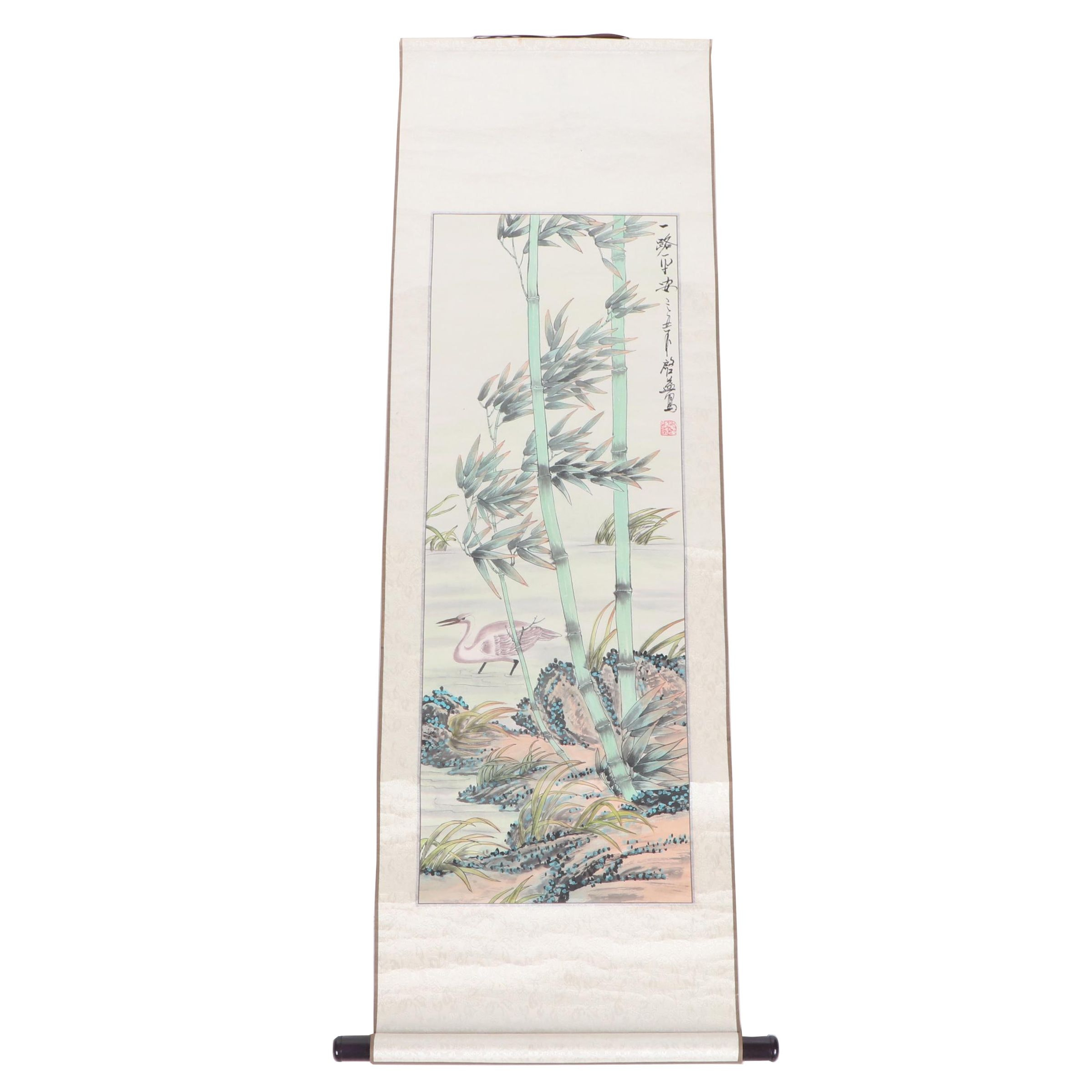 Chinese Gouache Scroll Painting