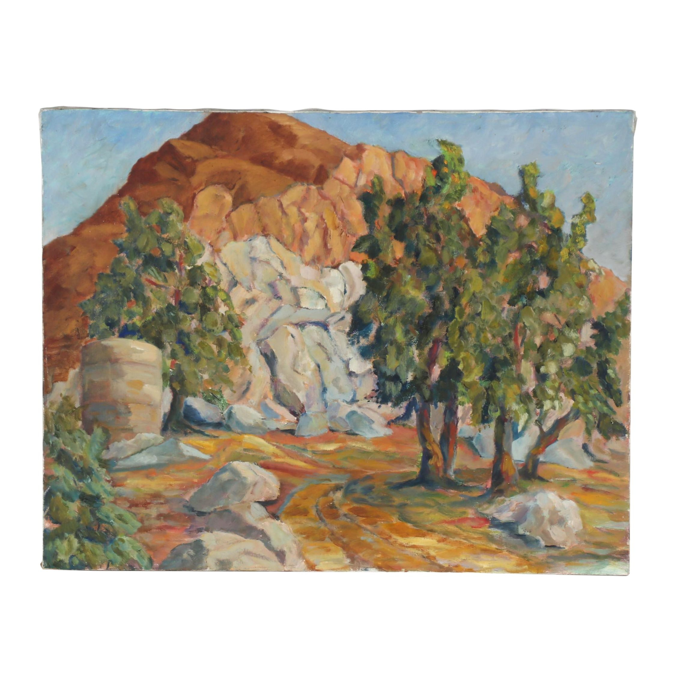 Late 20th Century Landscape Oil Painting