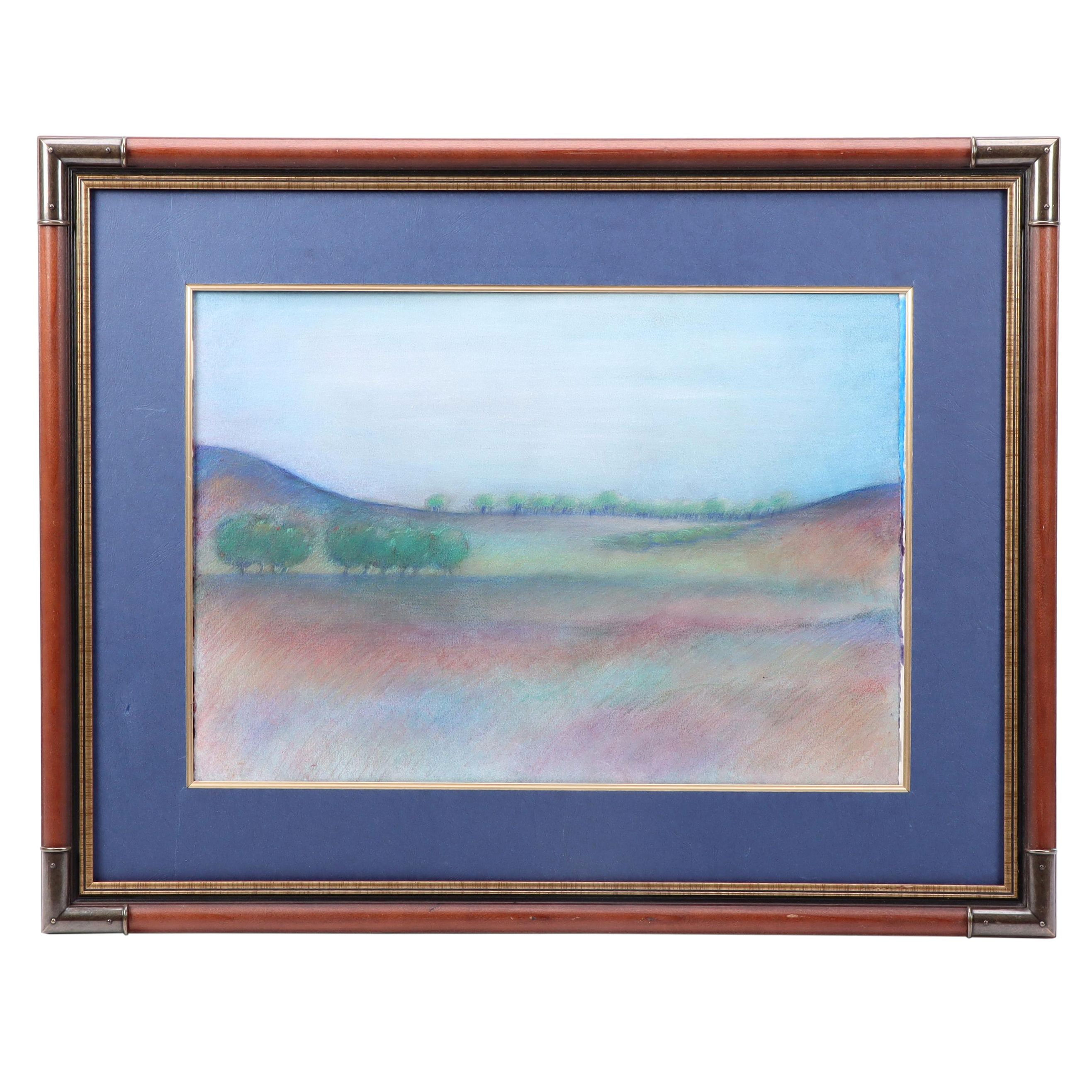 Abstract Landscape Pastel Drawing