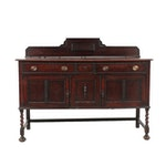 English Oak Arts and Crafts Style Sideboard, Late 19th to Early 20th Century