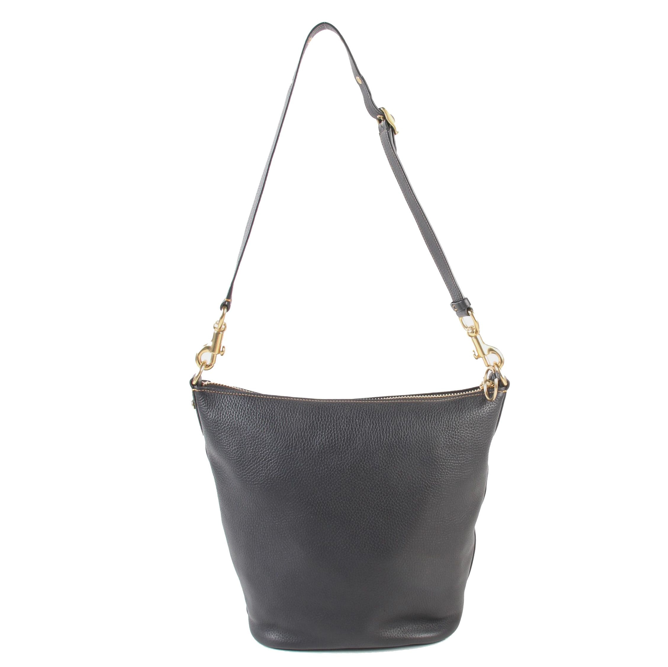 Coach Classic Duffle in Black Polished Pebble Leather