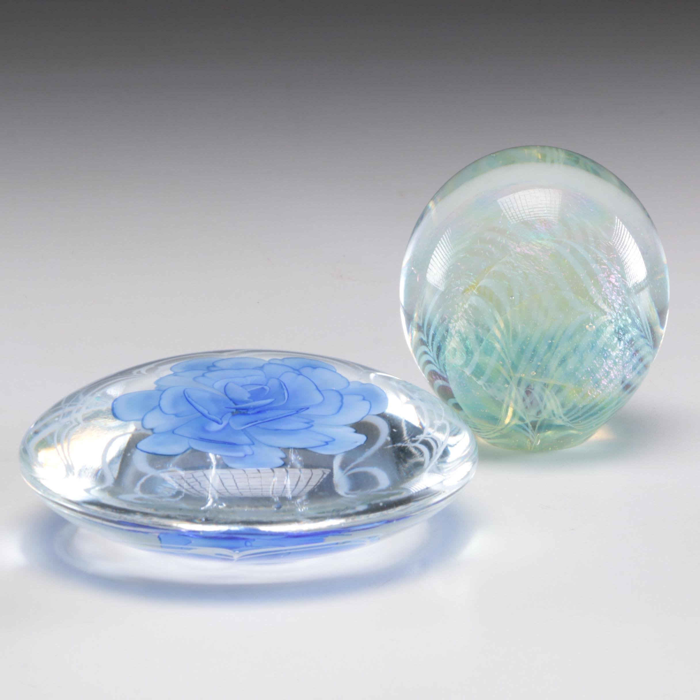 Art Glass Paperweights Featuring Robert Eickholt