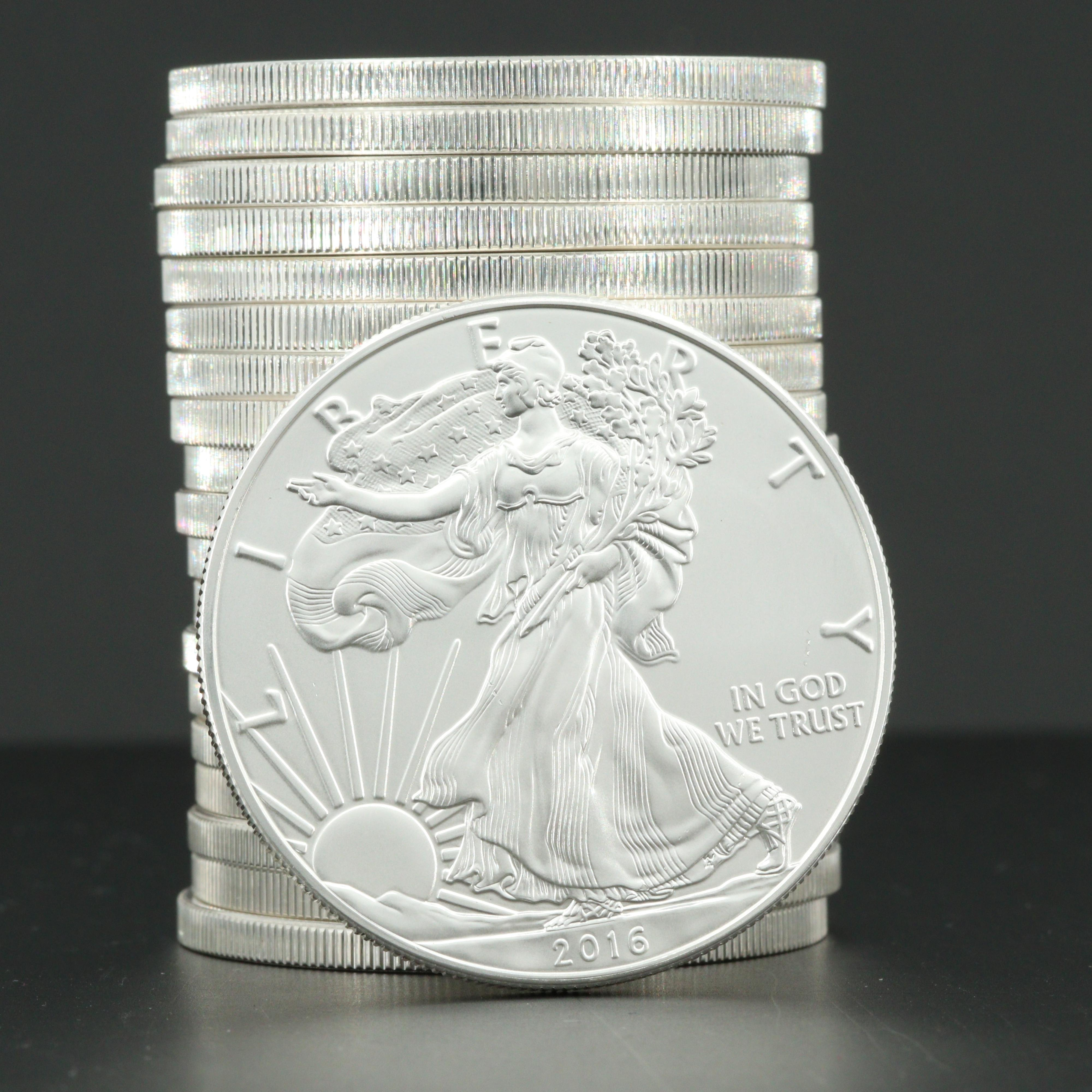 U.S. Mint Uncirculated Roll of Twenty 2016 American Silver Eagle Bullion Coins