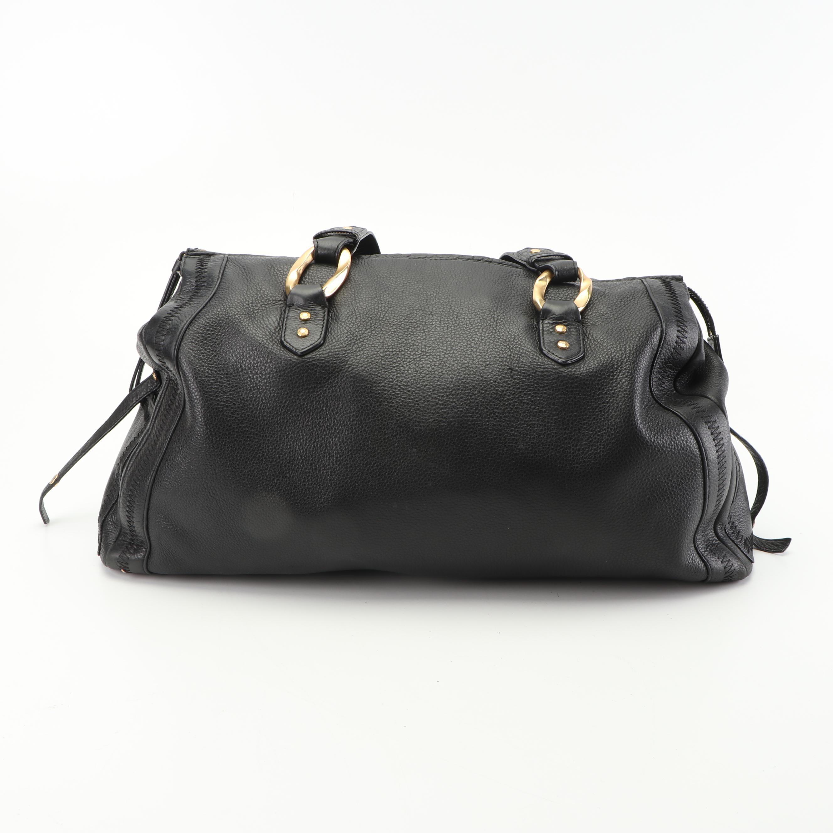 Sigrid Olsen Black Pebbled Leather Shoulder Bag