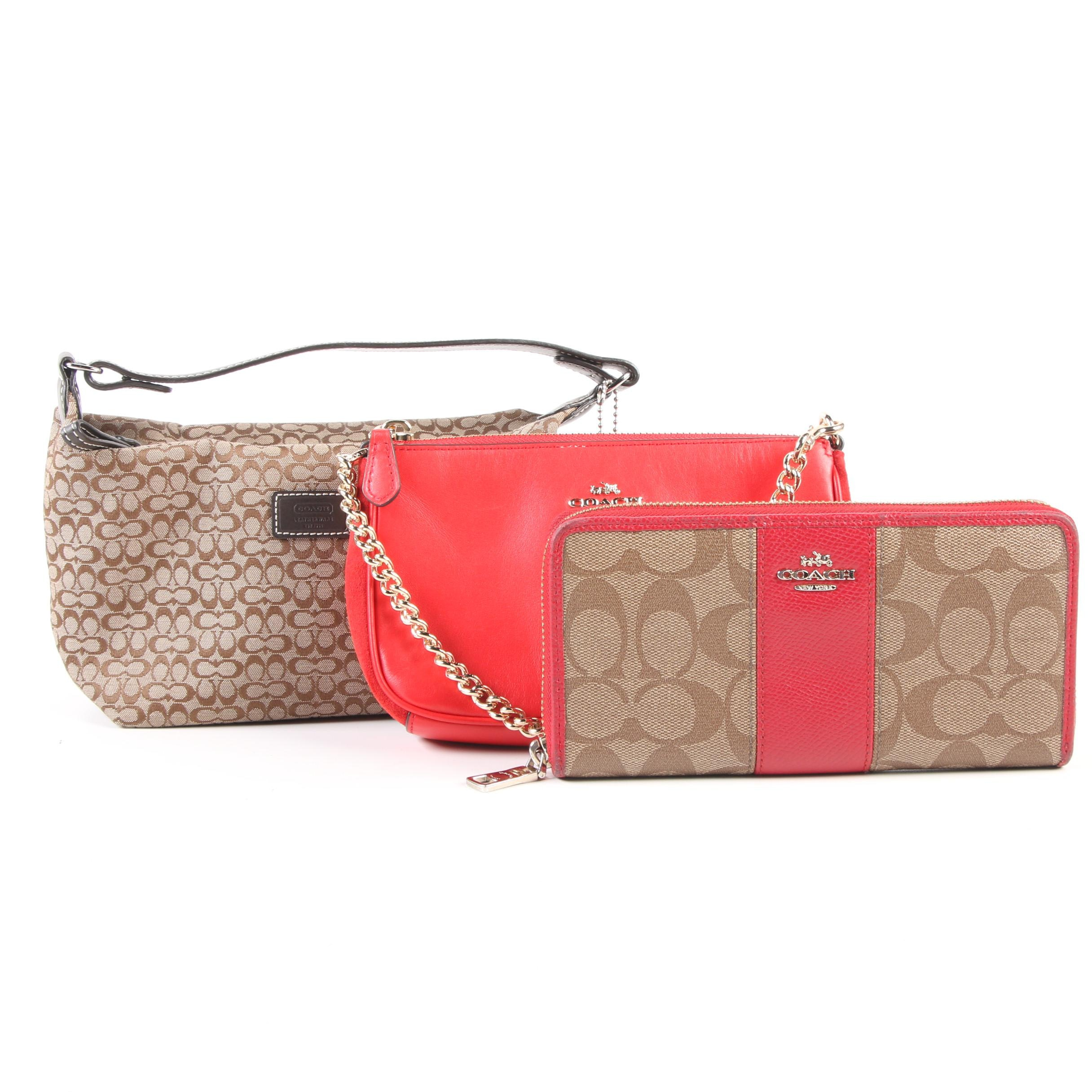 Coach Selena Gomez Limited Edition Wristlet with Long Wallet and Pouchette