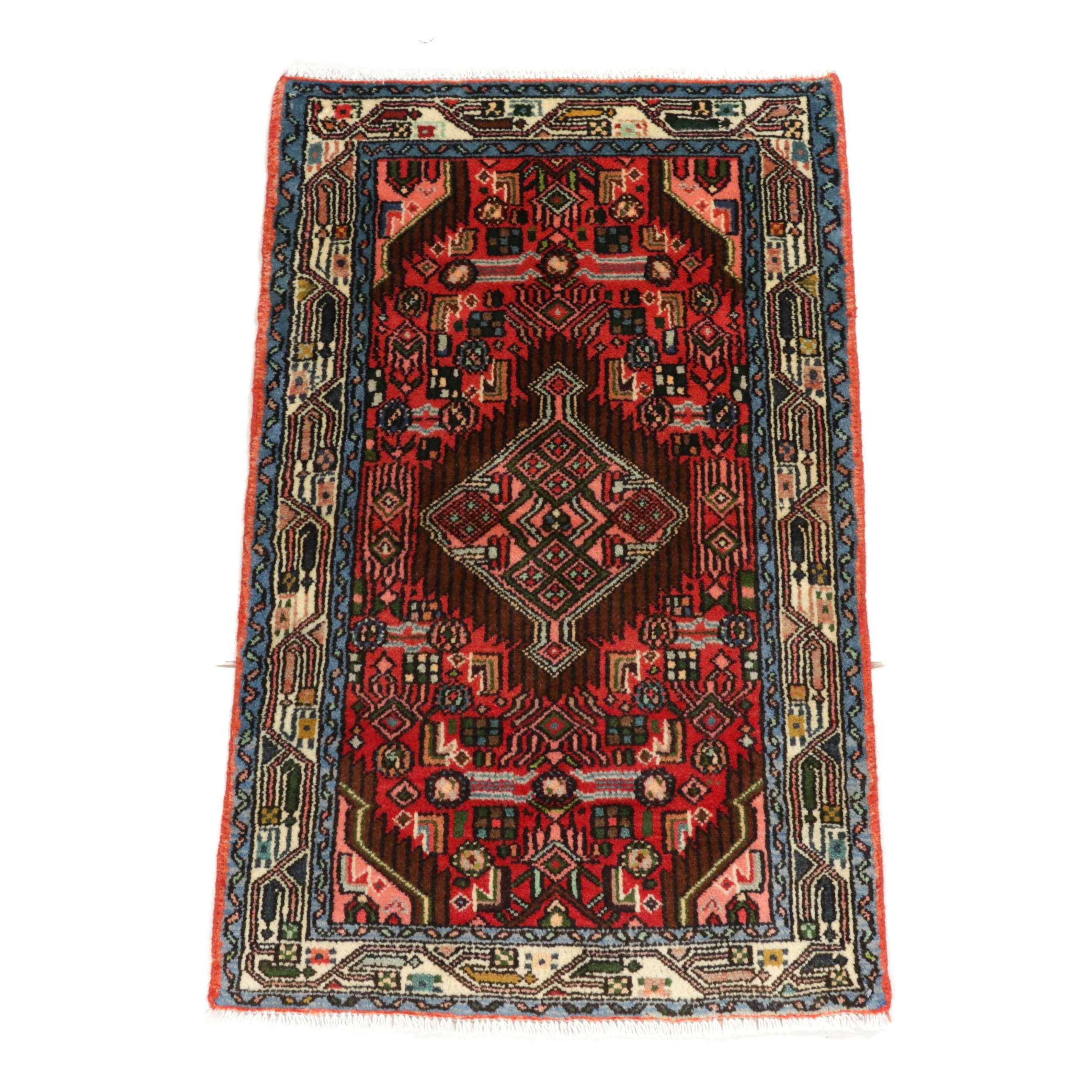 2.3' x 3.7' Hand-Knotted Persian Serab Rug, Circa 1970s