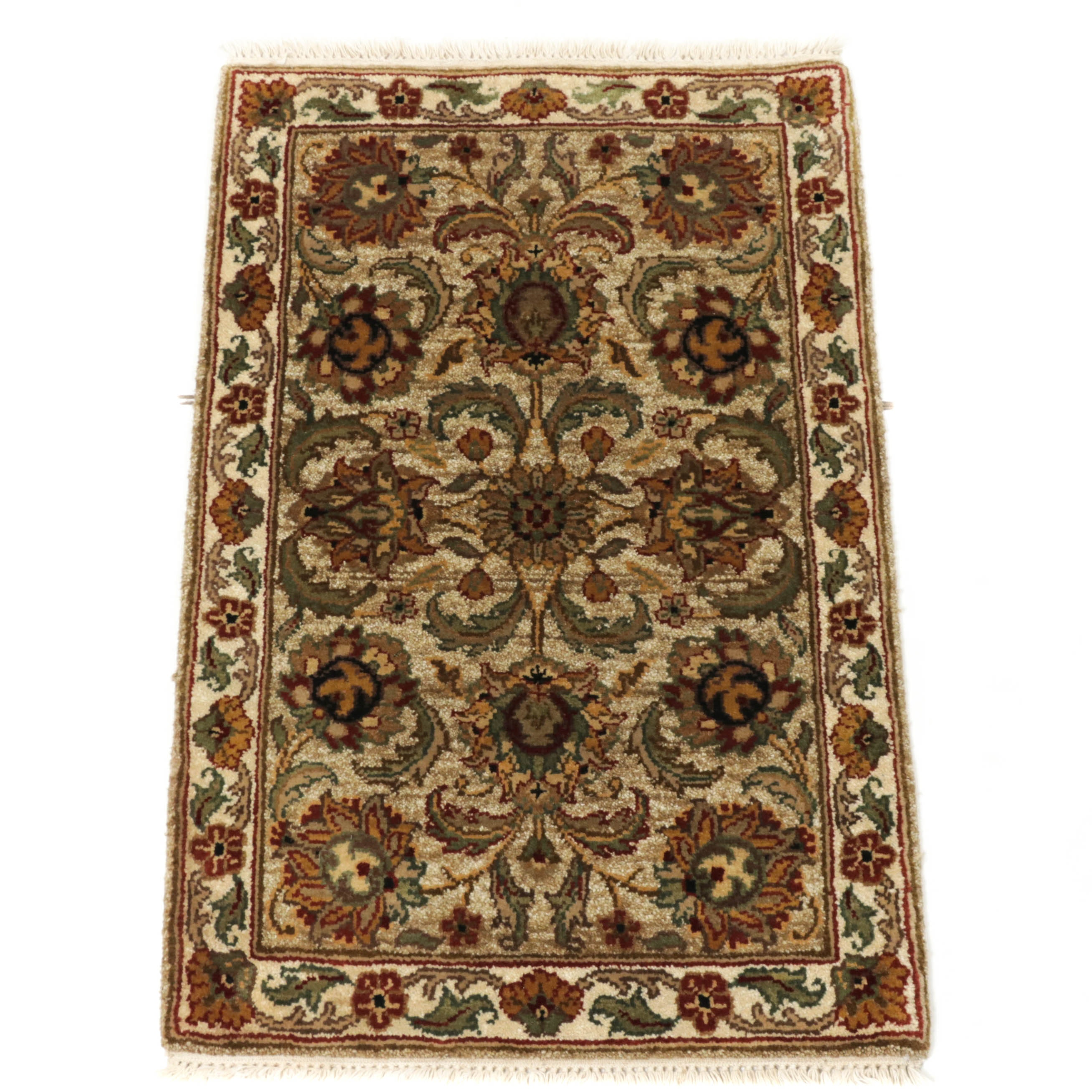 2.1' x 3.3' Hand-Knotted Indo-Persian Tabriz Wool Rug