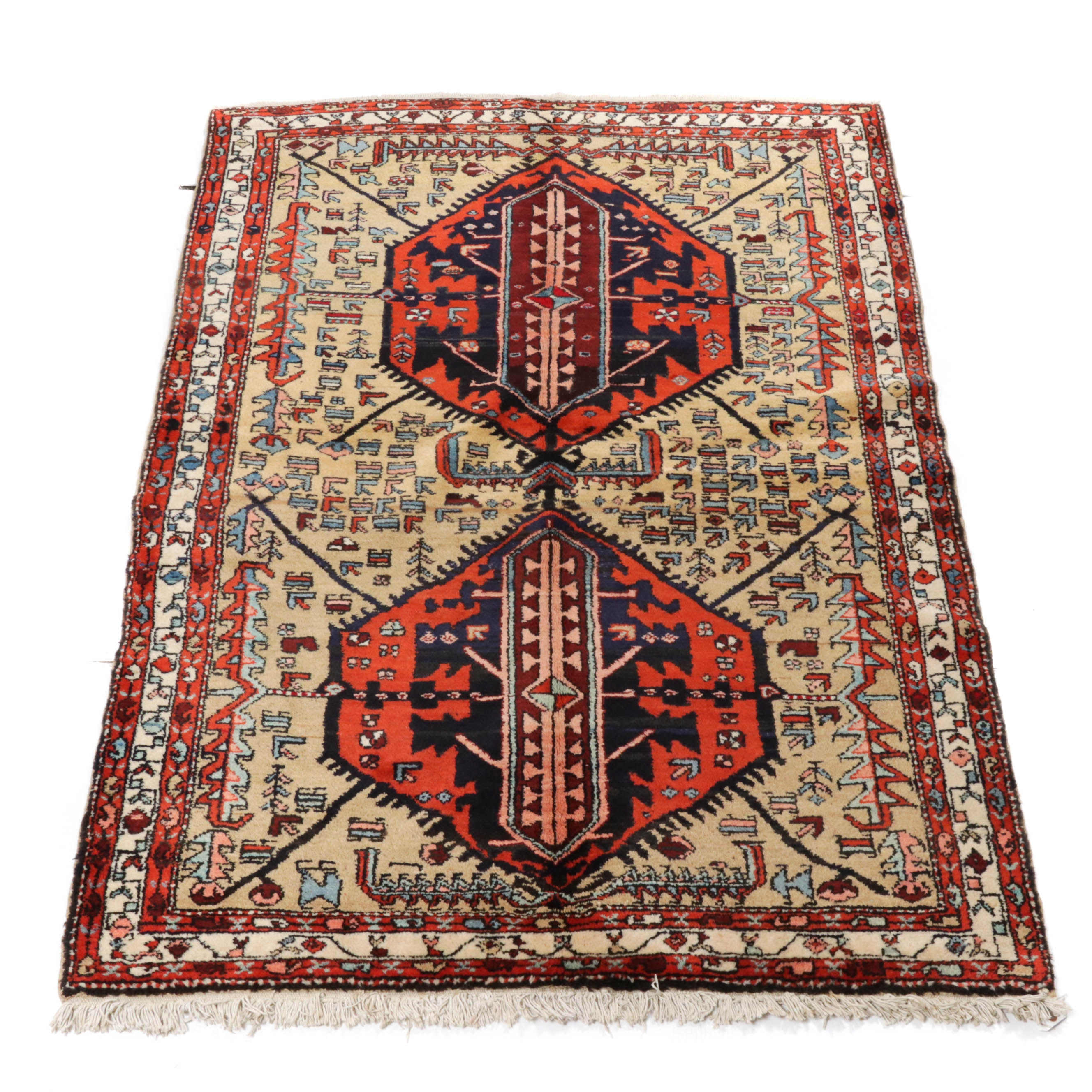 4.9' x 7' Hand-Knotted Persian Northwest Rug, Circa 1950s